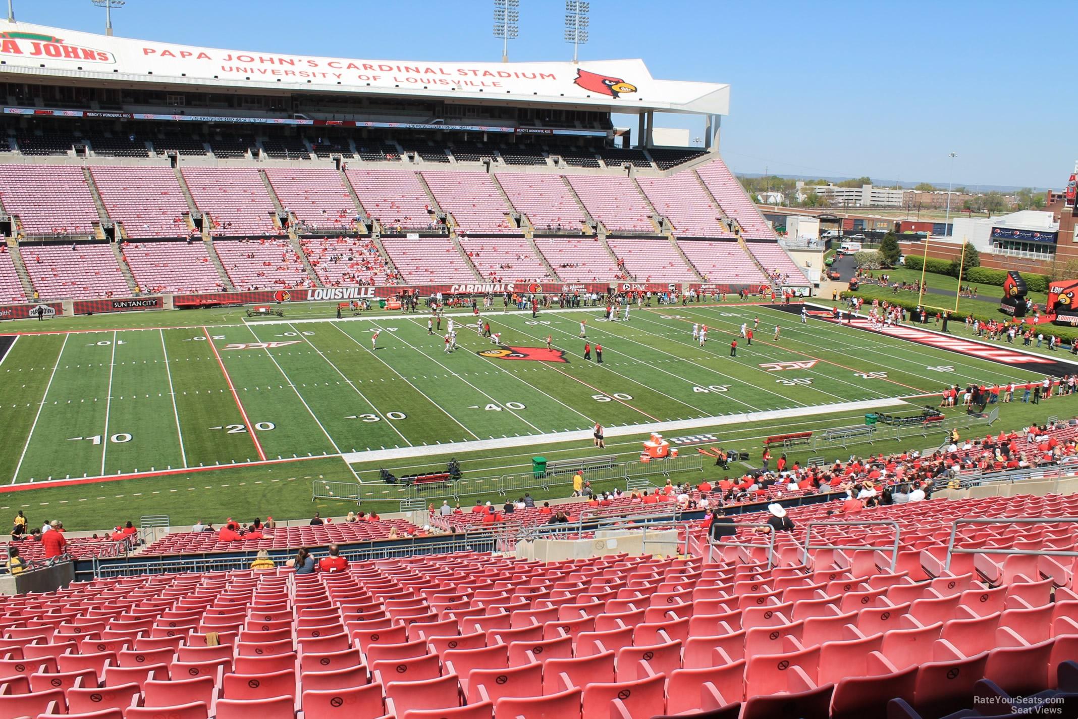 Cardinal Stadium Section 209 Rateyourseatscom