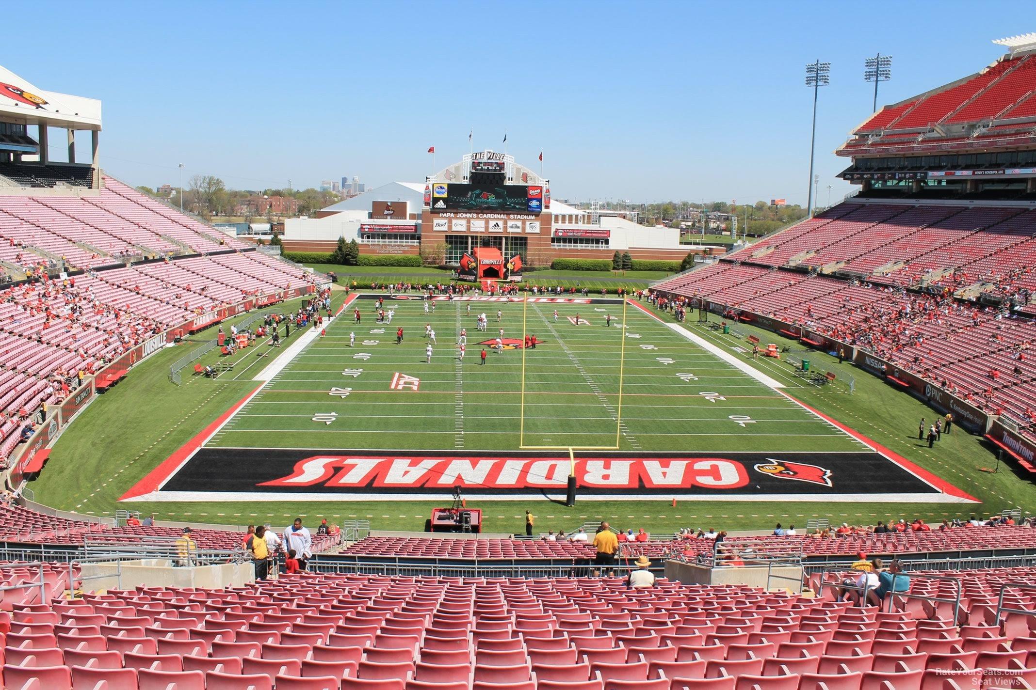 Cardinal Stadium Section 219 Rateyourseatscom