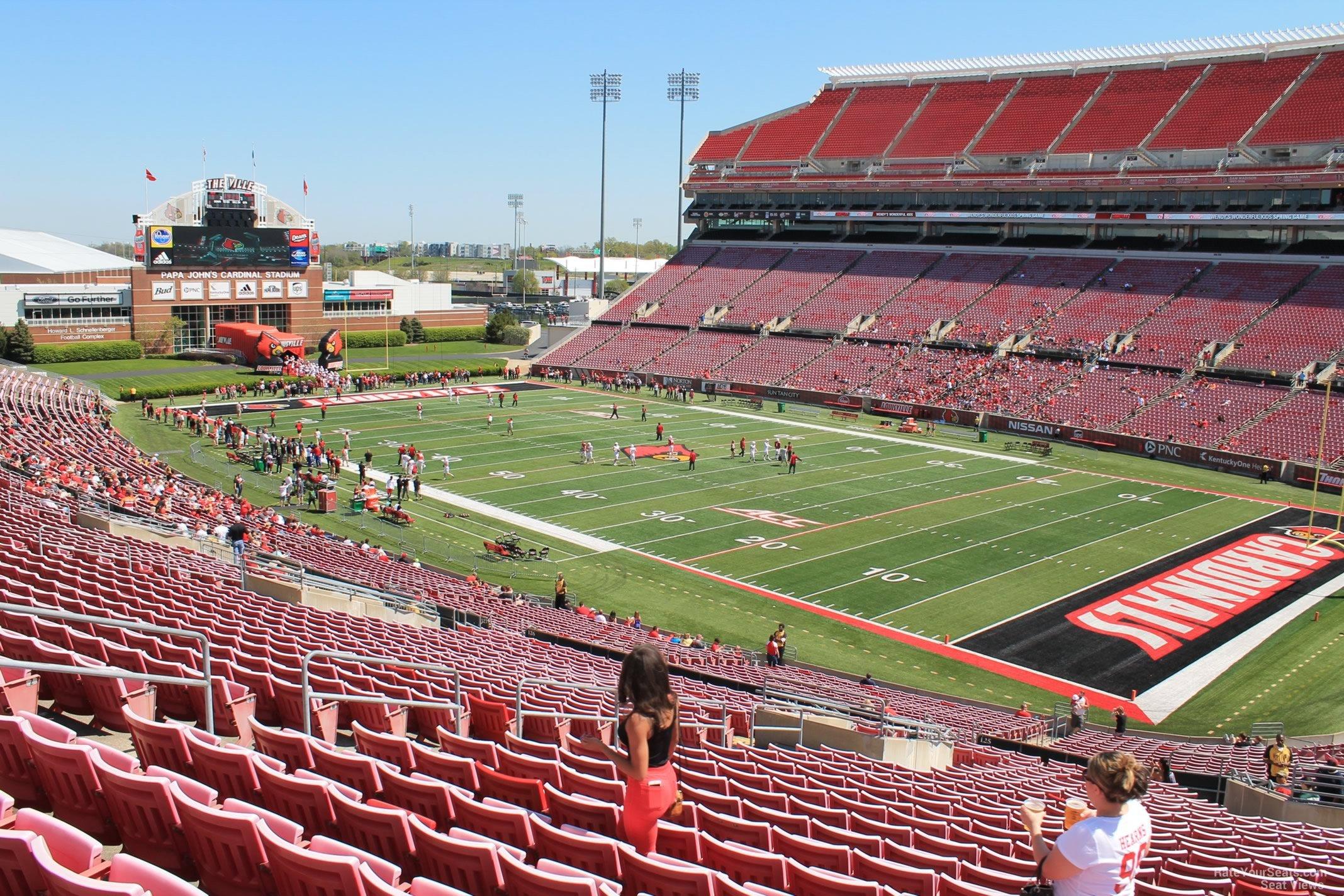 Cardinal Stadium Section 225 Rateyourseatscom