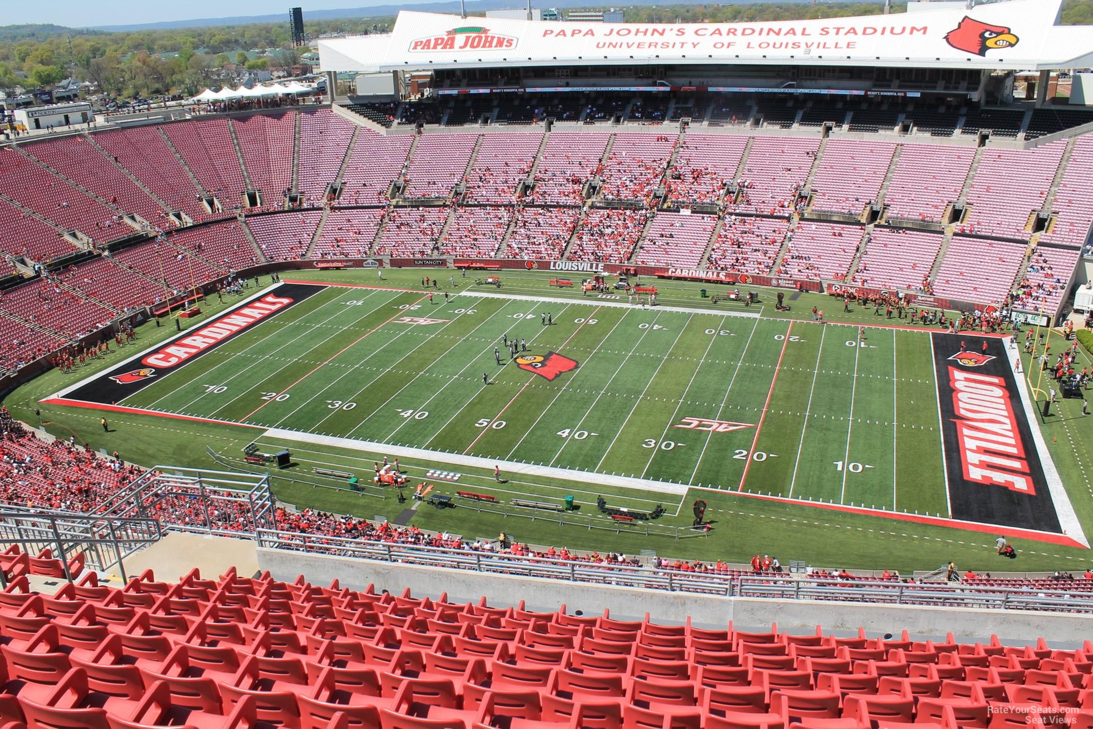 Cardinal Stadium Section 304 Rateyourseatscom