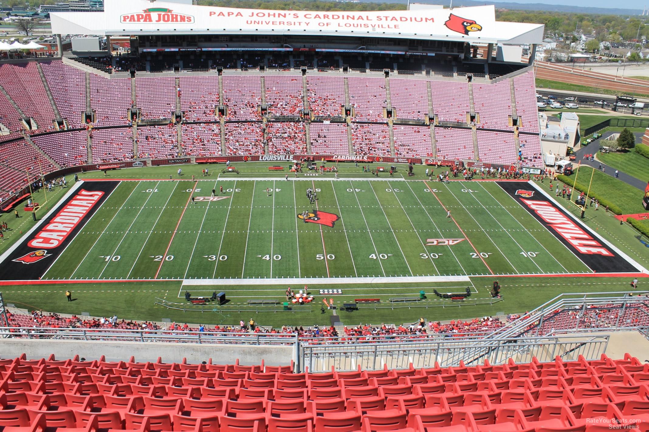 Cardinal Stadium Section 307 Rateyourseatscom