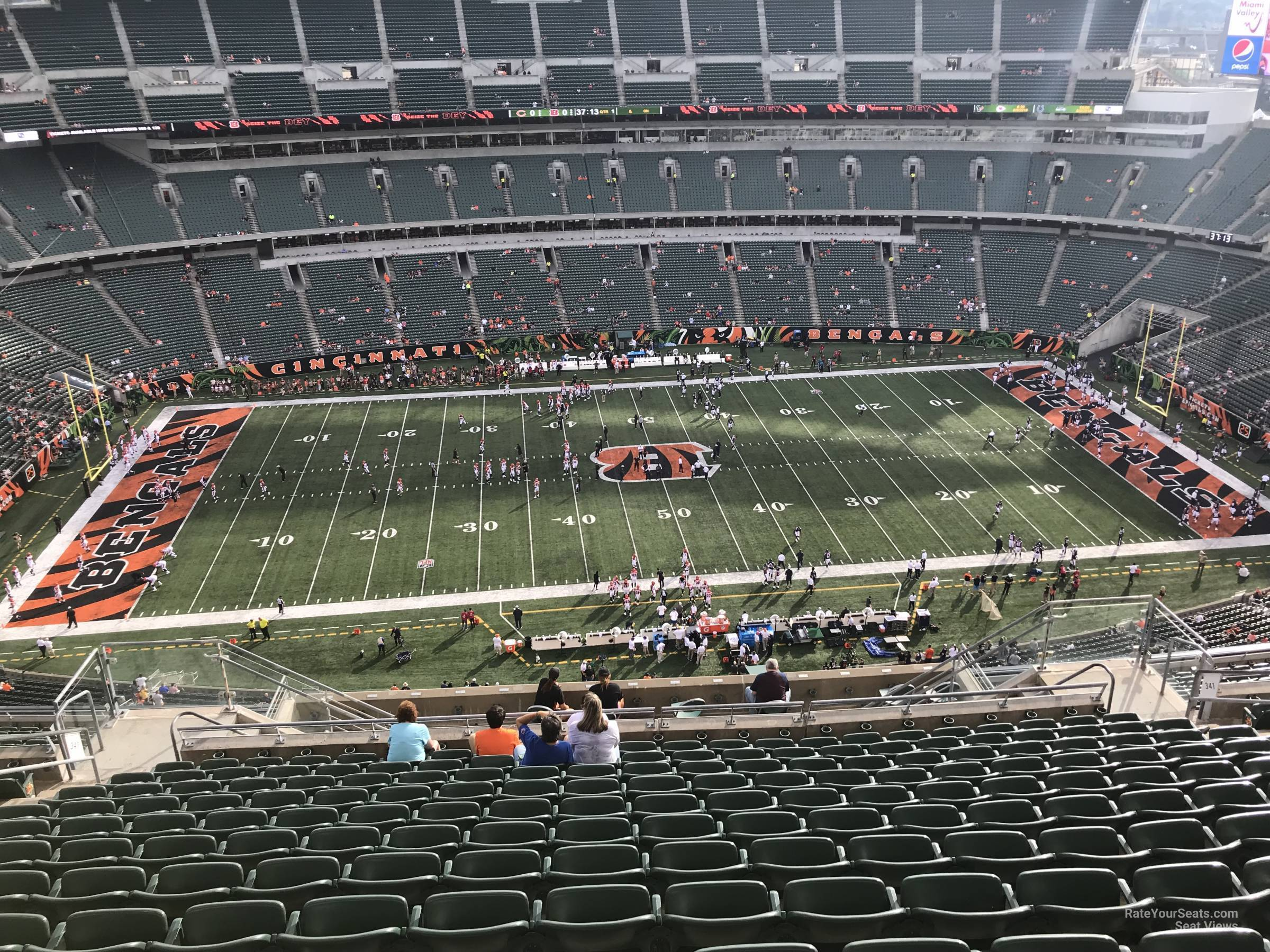 Seat View for Paul Brown Stadium Section 341, Row 25
