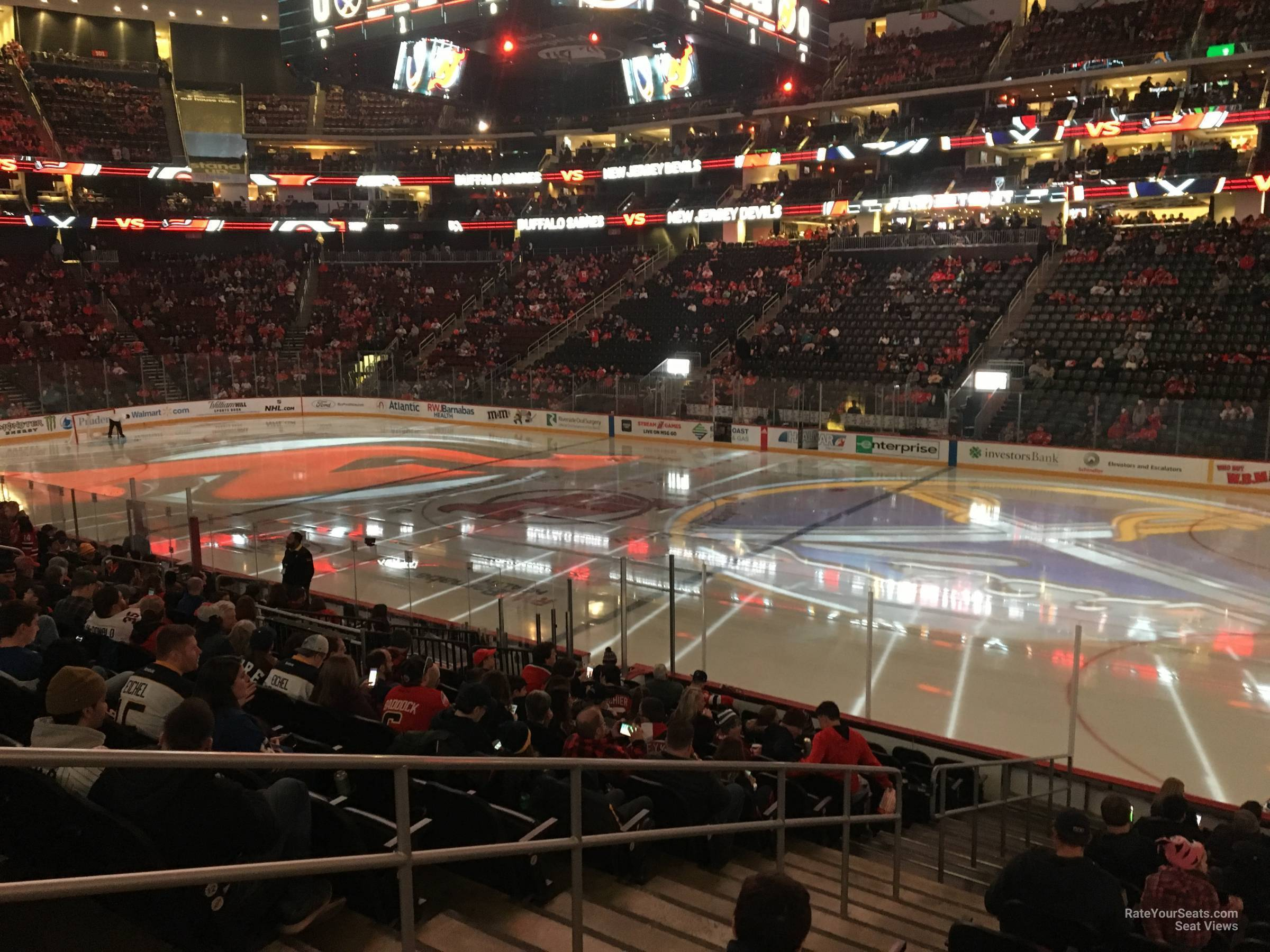 New Jersey Devils Seat View for Prudential Center Section 10, Row 15
