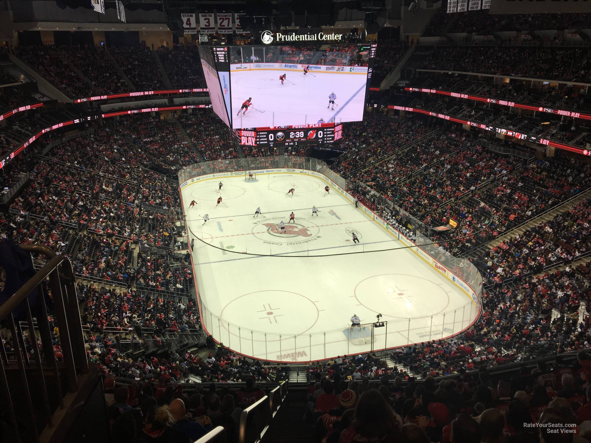 New Jersey Devils Seat View for Prudential Center Section 102, Row 6