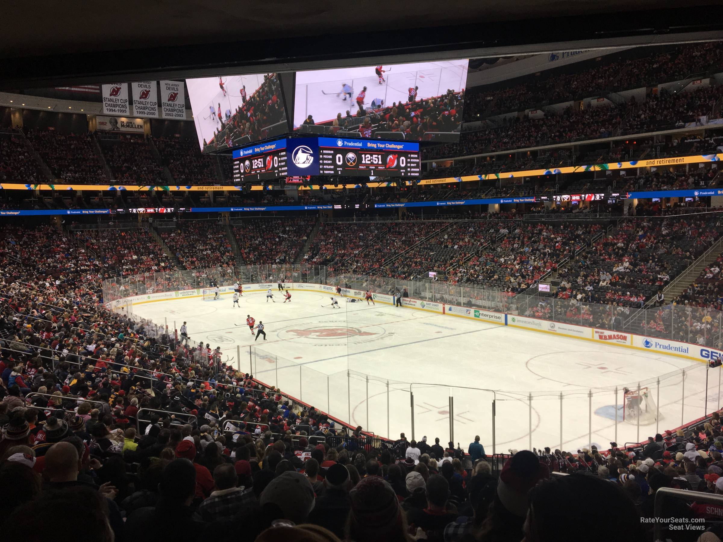 New Jersey Devils Seat View for Prudential Center Section 11, Row 24