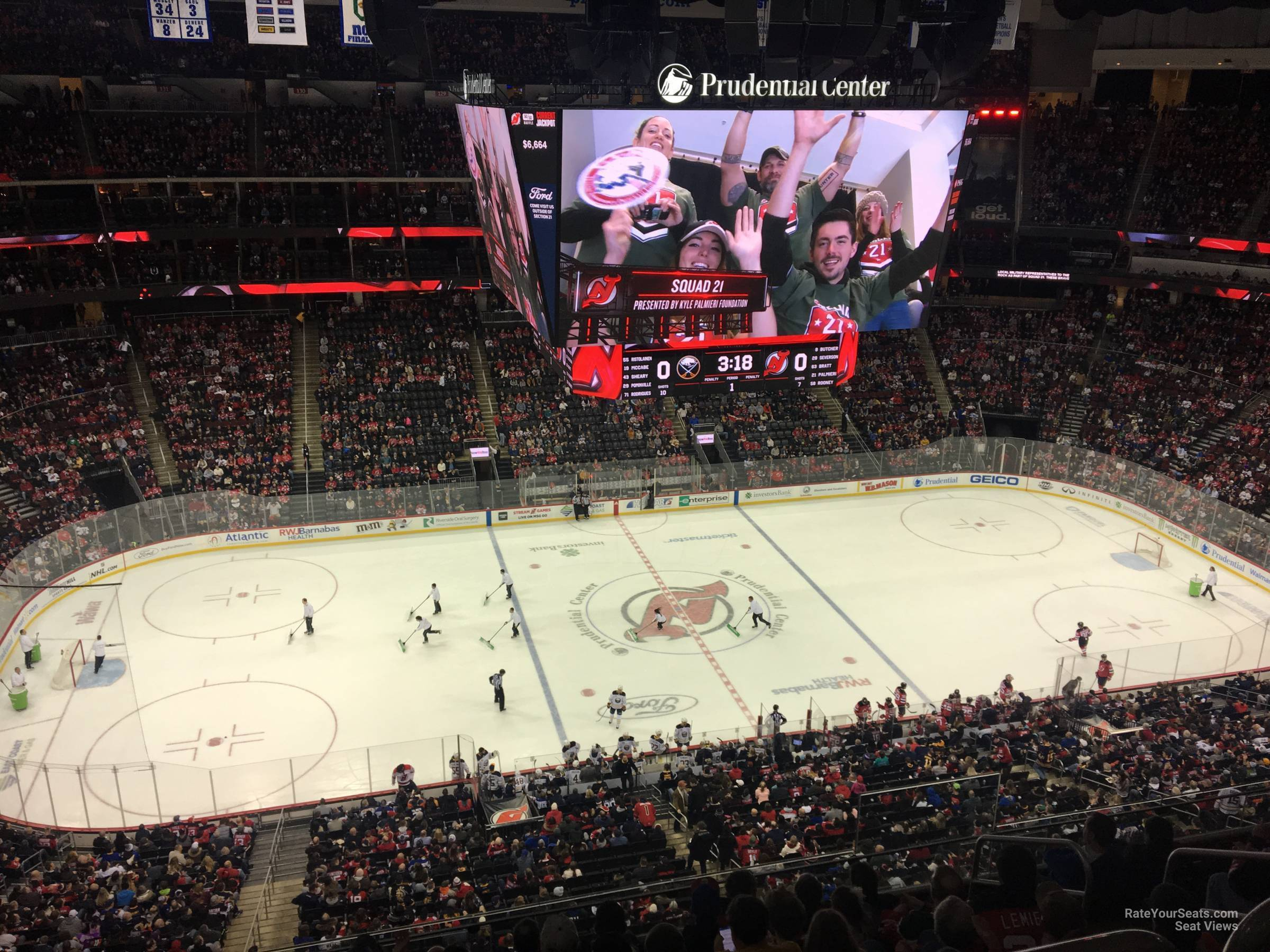 New Jersey Devils Seat View for Prudential Center Section 110, Row 6