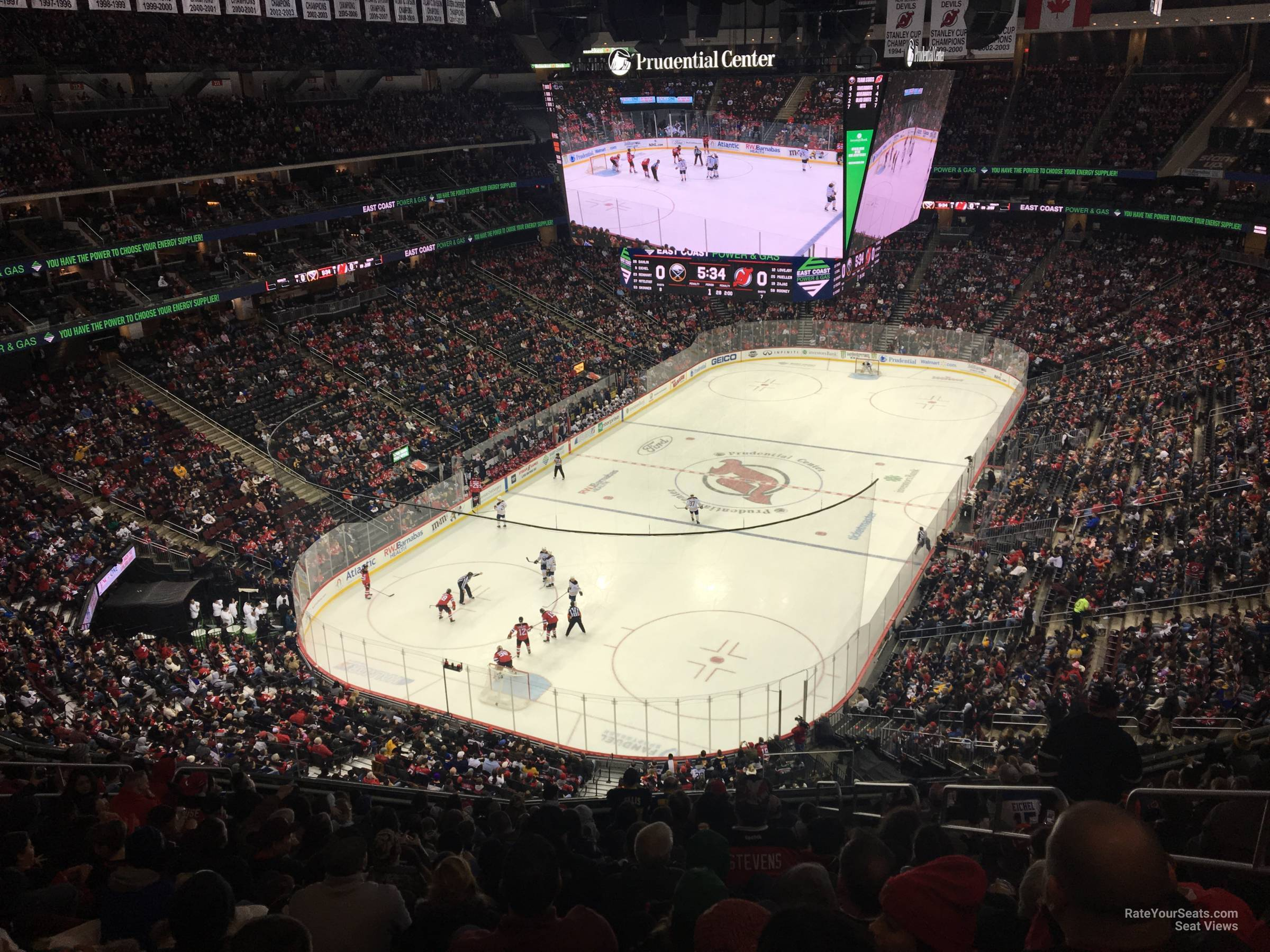 New Jersey Devils Seat View for Prudential Center Section 122, Row 6