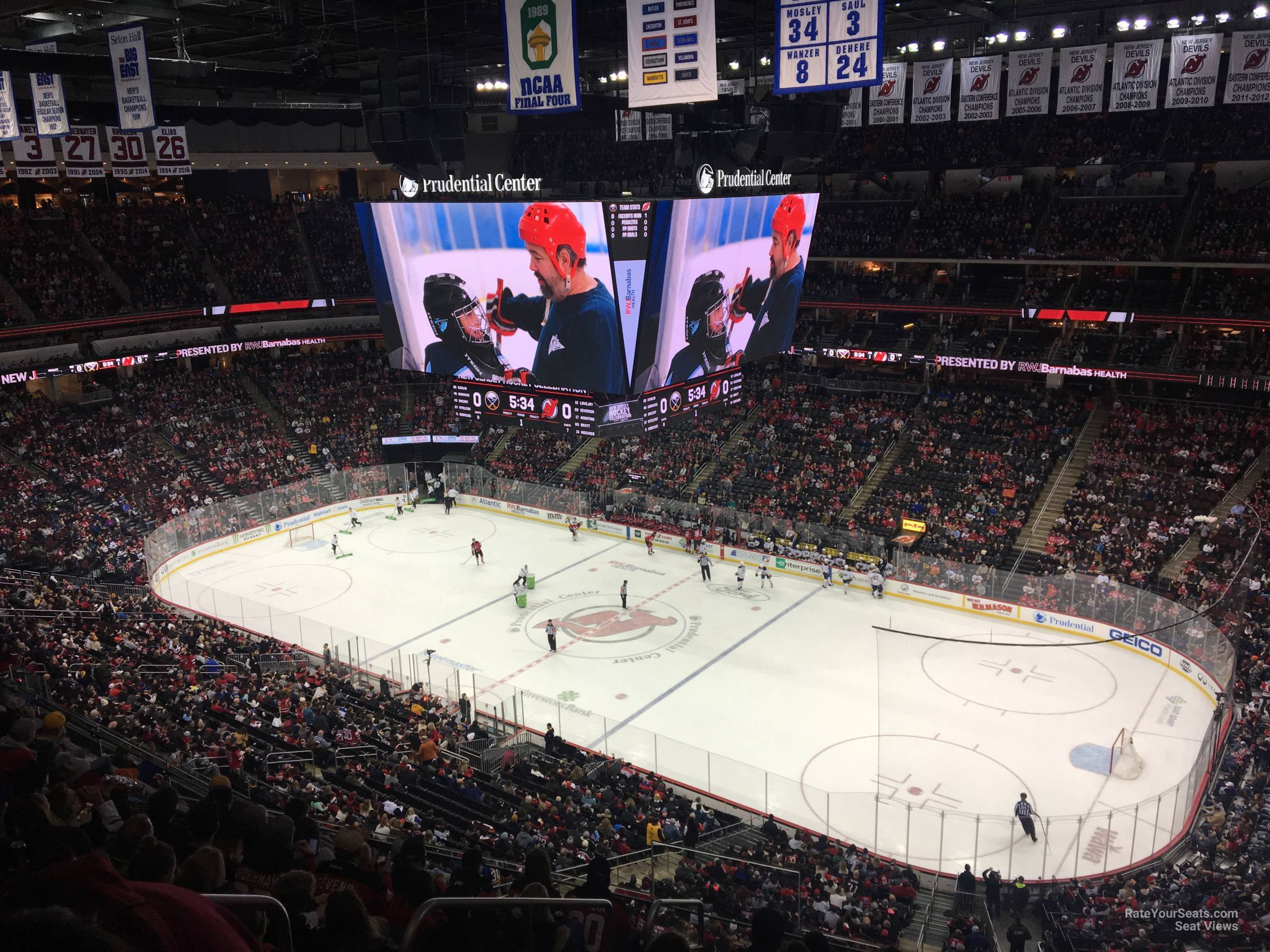 New Jersey Devils Seat View for Prudential Center Section 132, Row 6