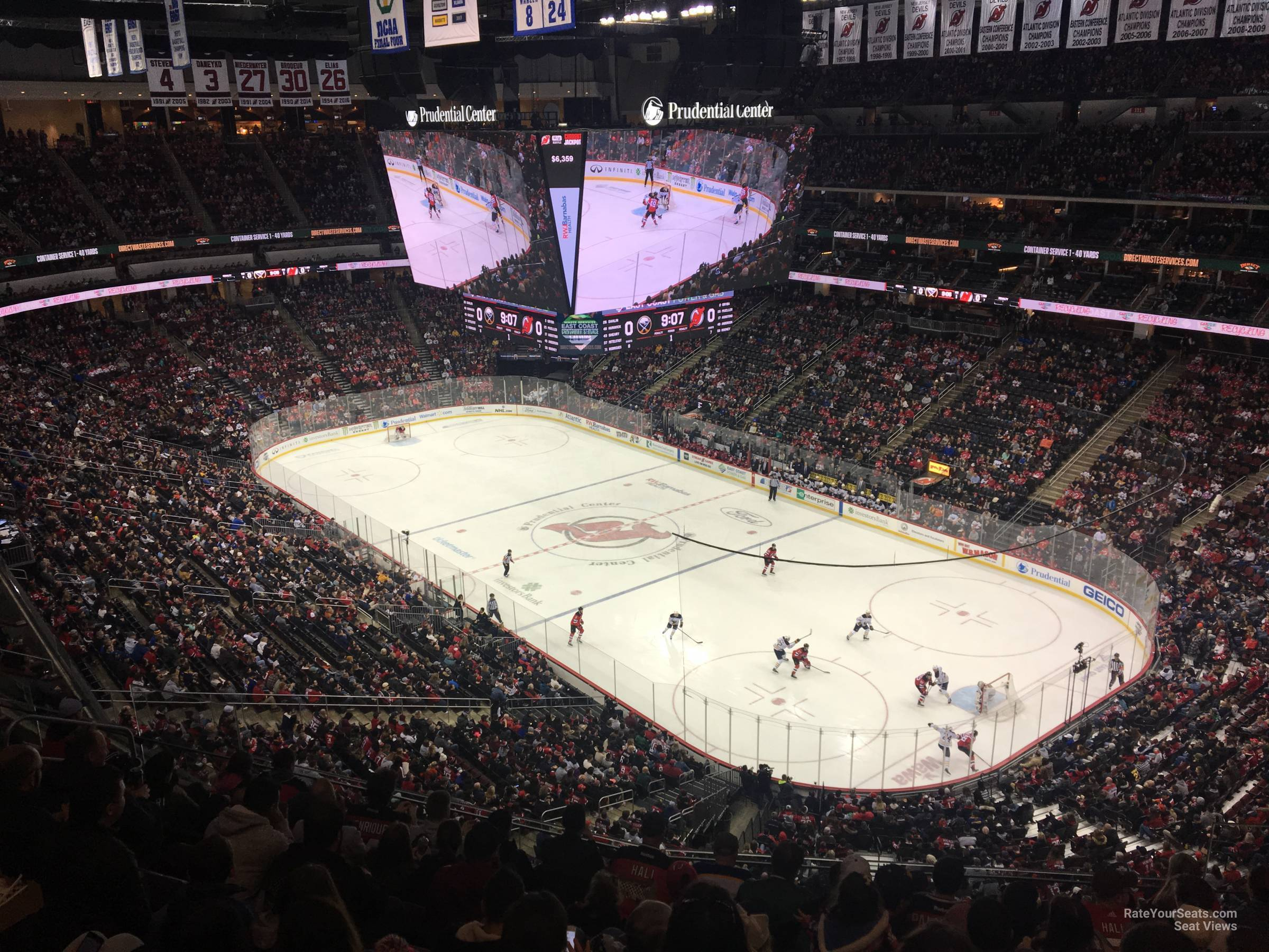New Jersey Devils Seat View for Prudential Center Section 133, Row 6