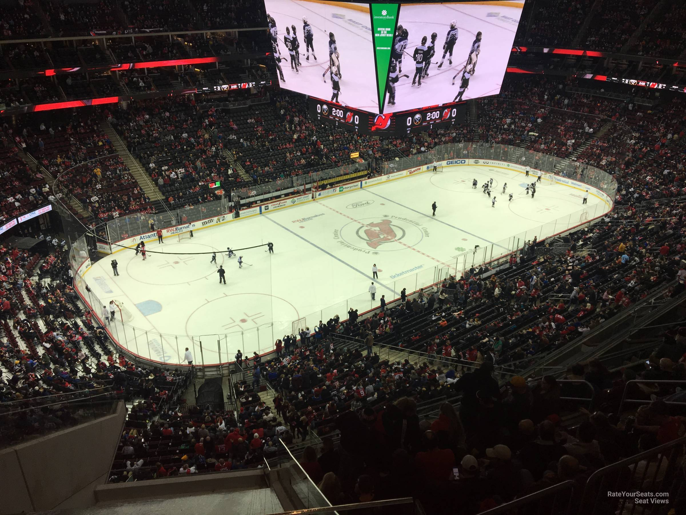 New Jersey Devils Seat View for Prudential Center Section 226, Row 1