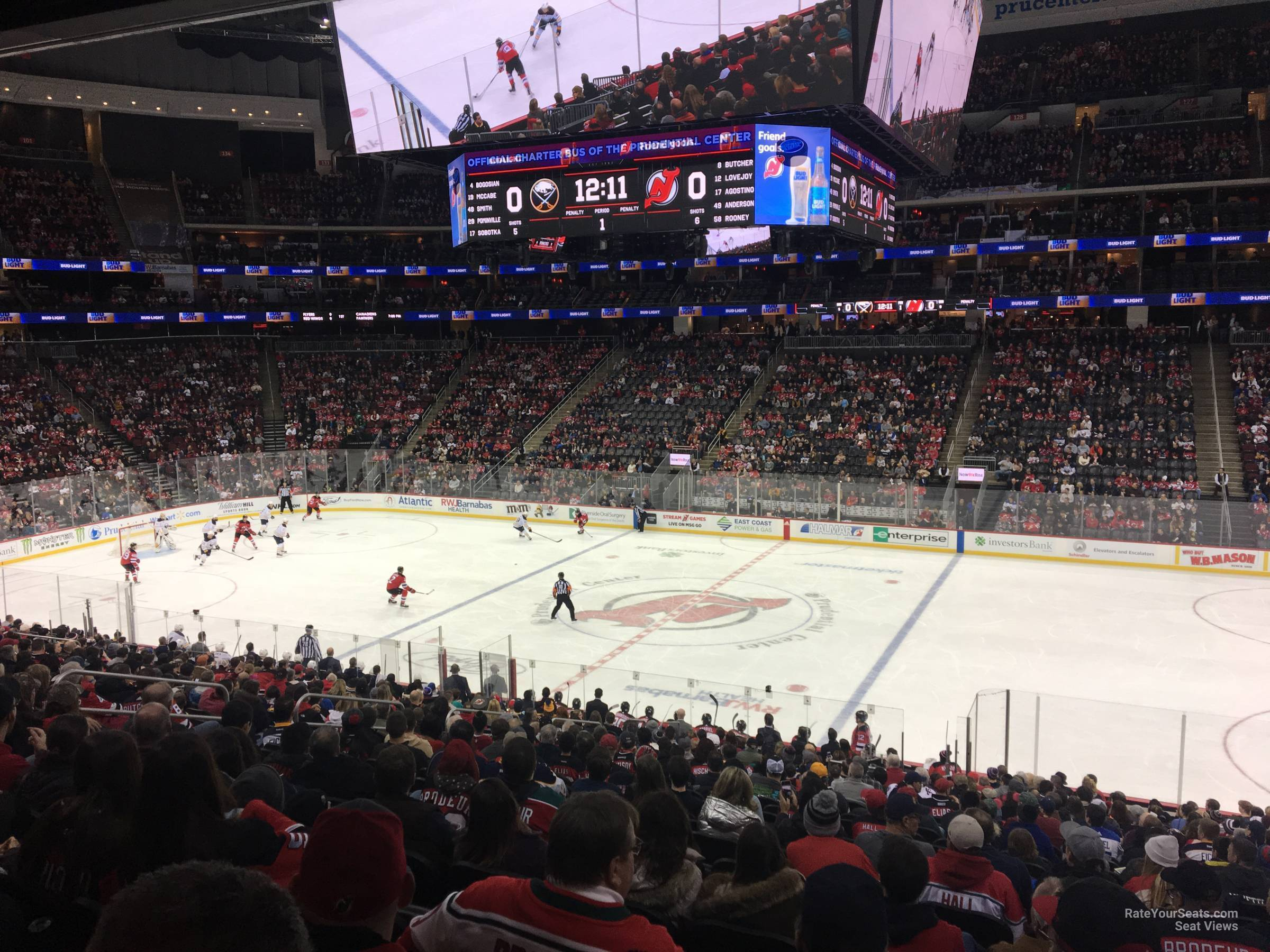 New Jersey Devils Seat View for Prudential Center Section 9, Row 24