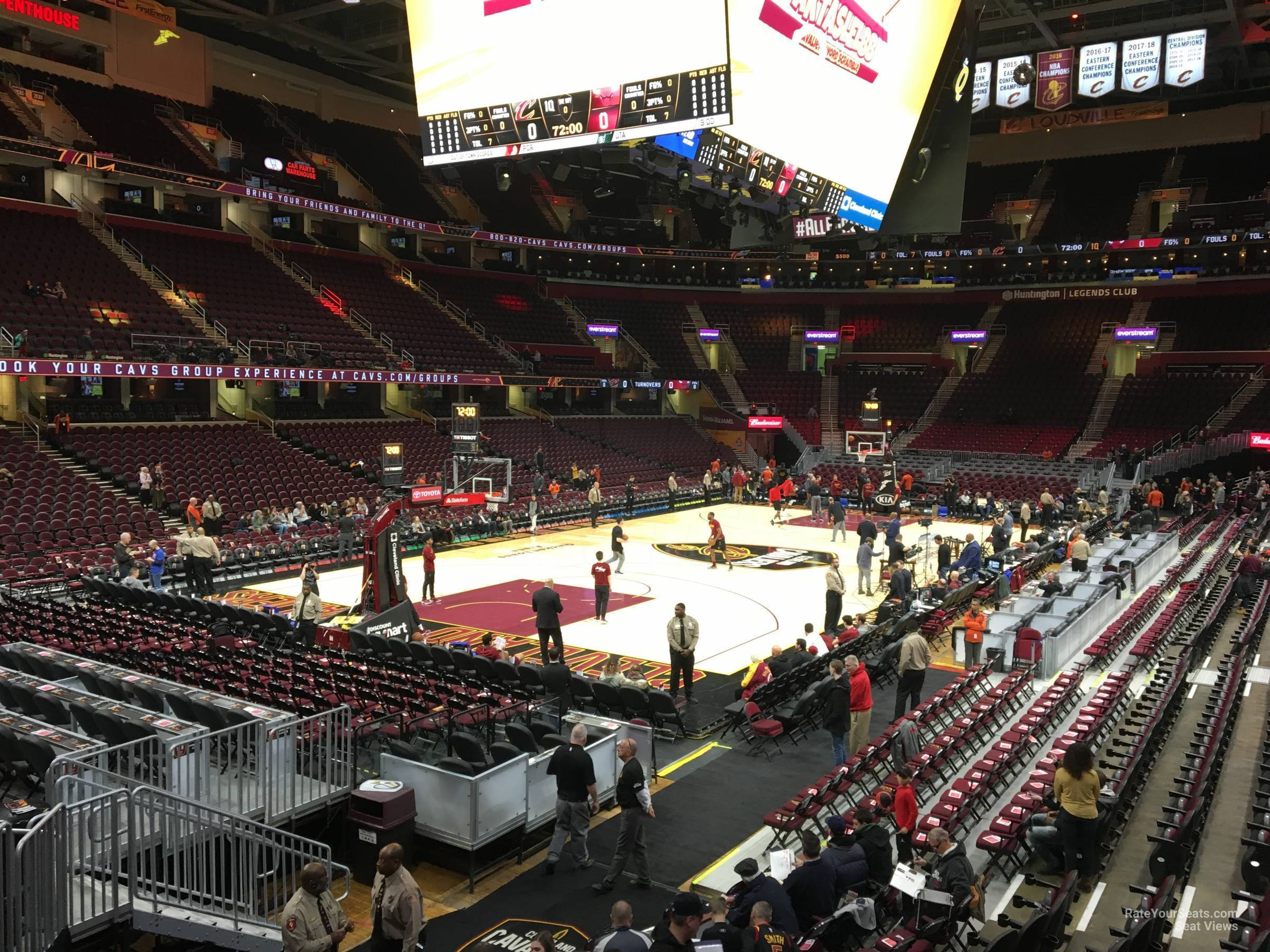 Rocket Morte FieldHouse Section 111 - Cleveland Cavaliers ... on