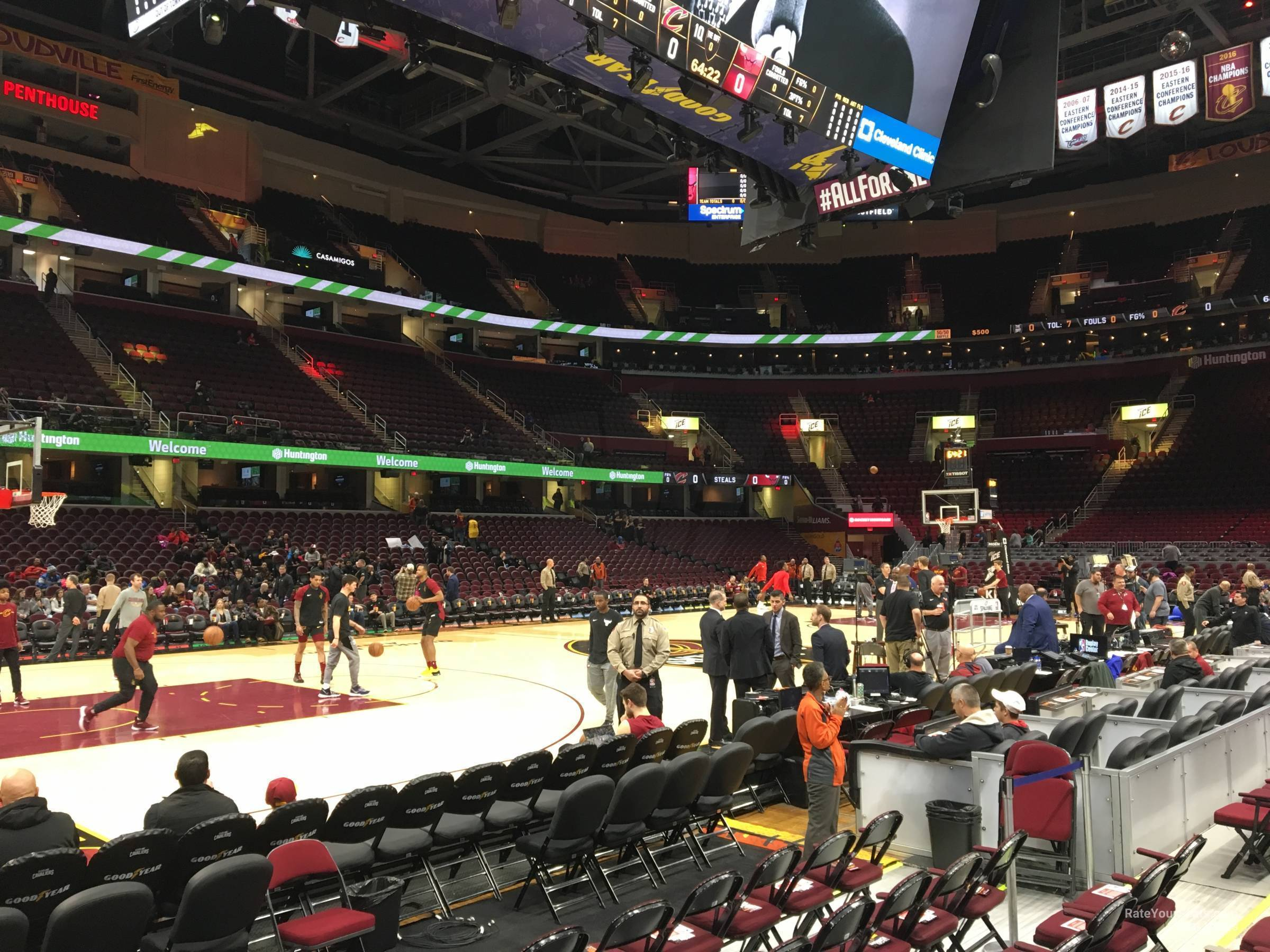Rocket Mortgage Fieldhouse Section 109 Cleveland Cavaliers