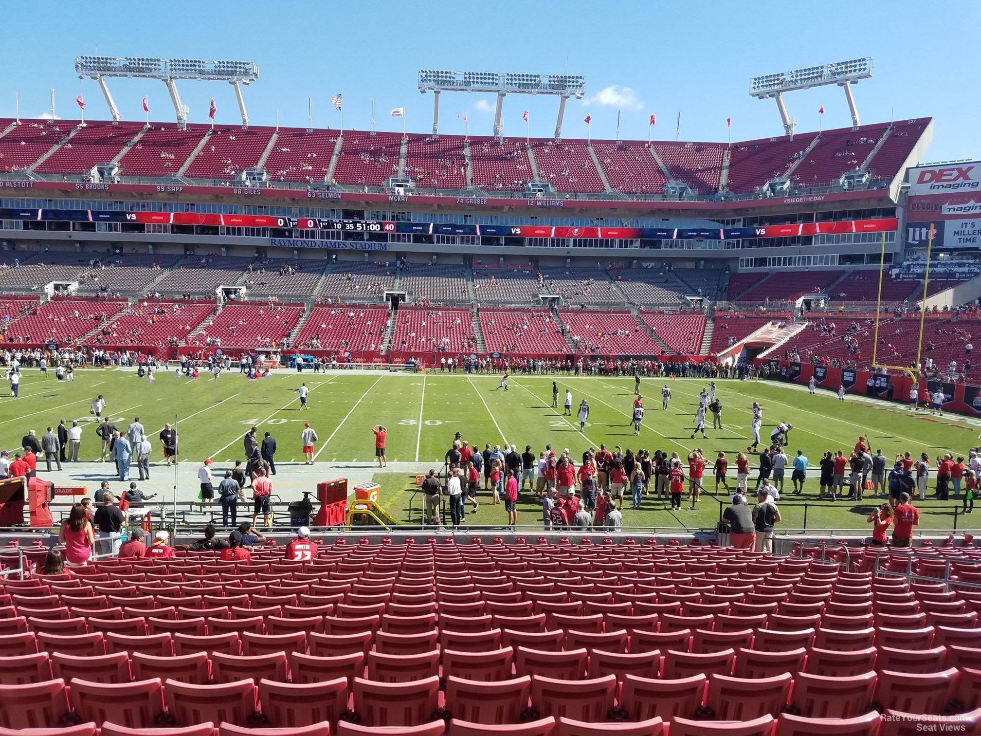 Section 112 At Raymond James Stadium Tampa Bay Buccaneers Rateyourseats Com
