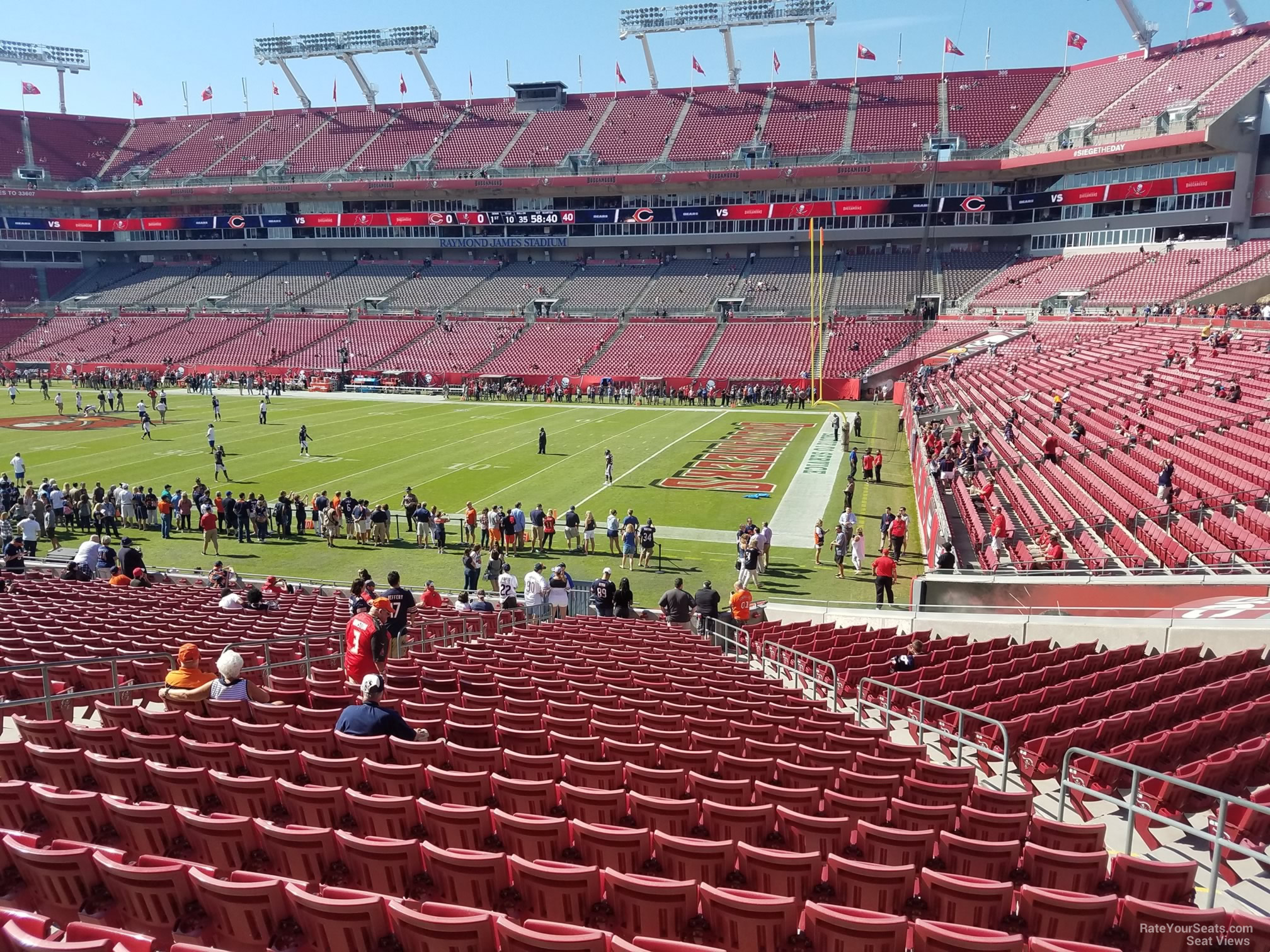 Section 140 At Raymond James Stadium Tampa Bay Buccaneers Rateyourseats Com