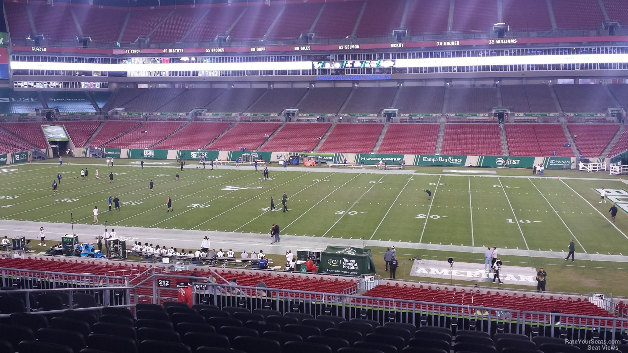Section 213 At Raymond James Stadium Tampa Bay Buccaneers Rateyourseats Com