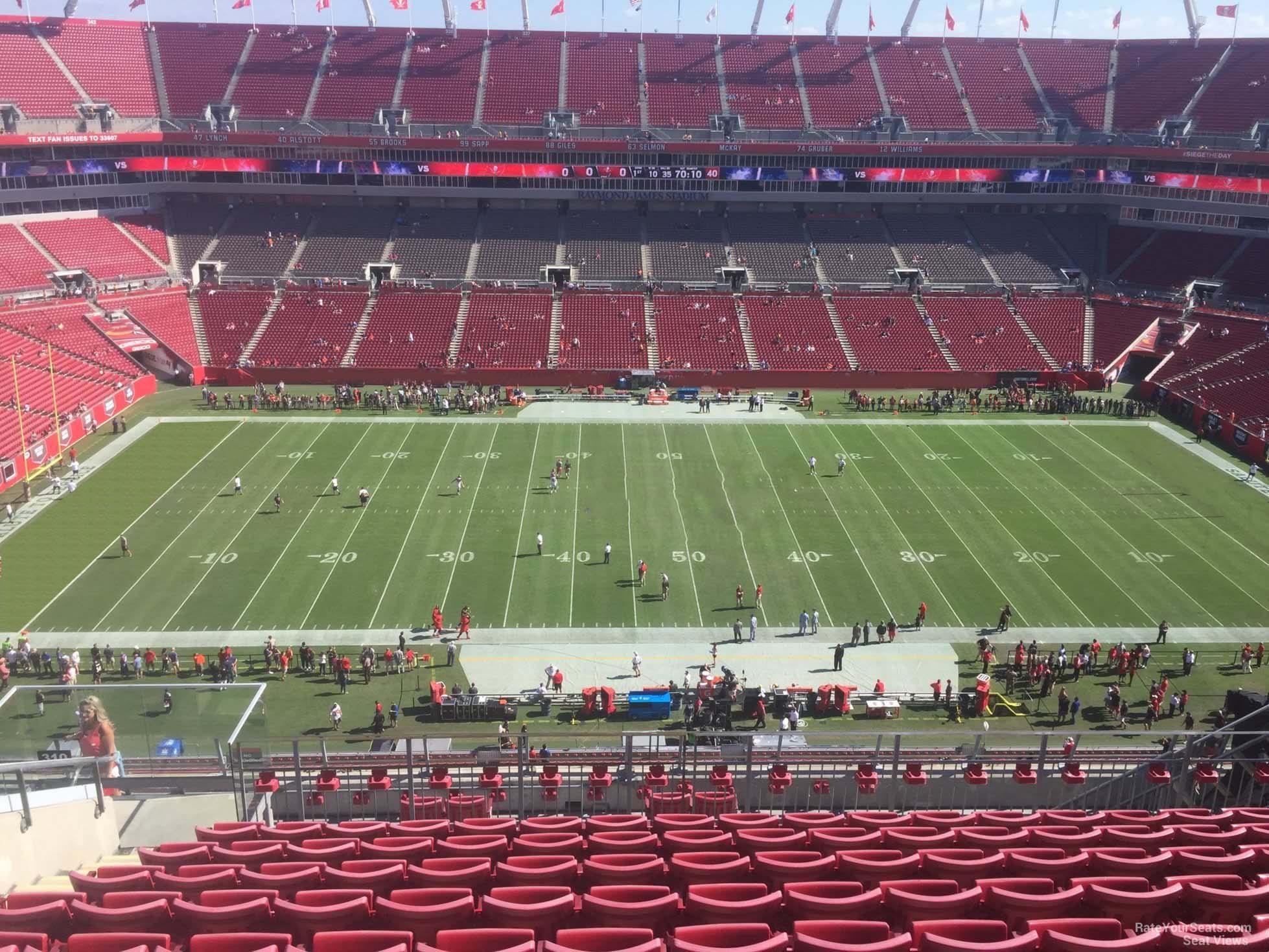 Section 310 At Raymond James Stadium Tampa Bay Buccaneers Rateyourseats Com