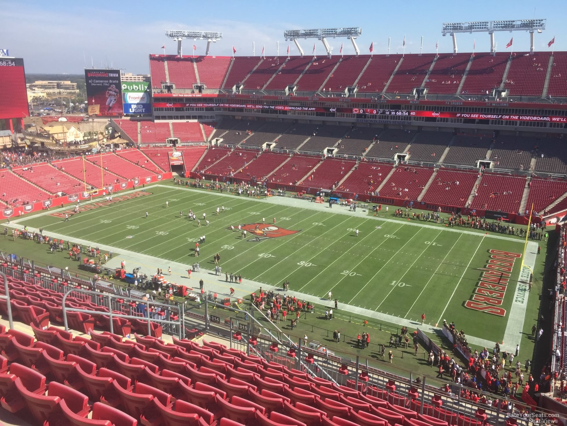 Section 315 At Raymond James Stadium Tampa Bay Buccaneers Rateyourseats Com