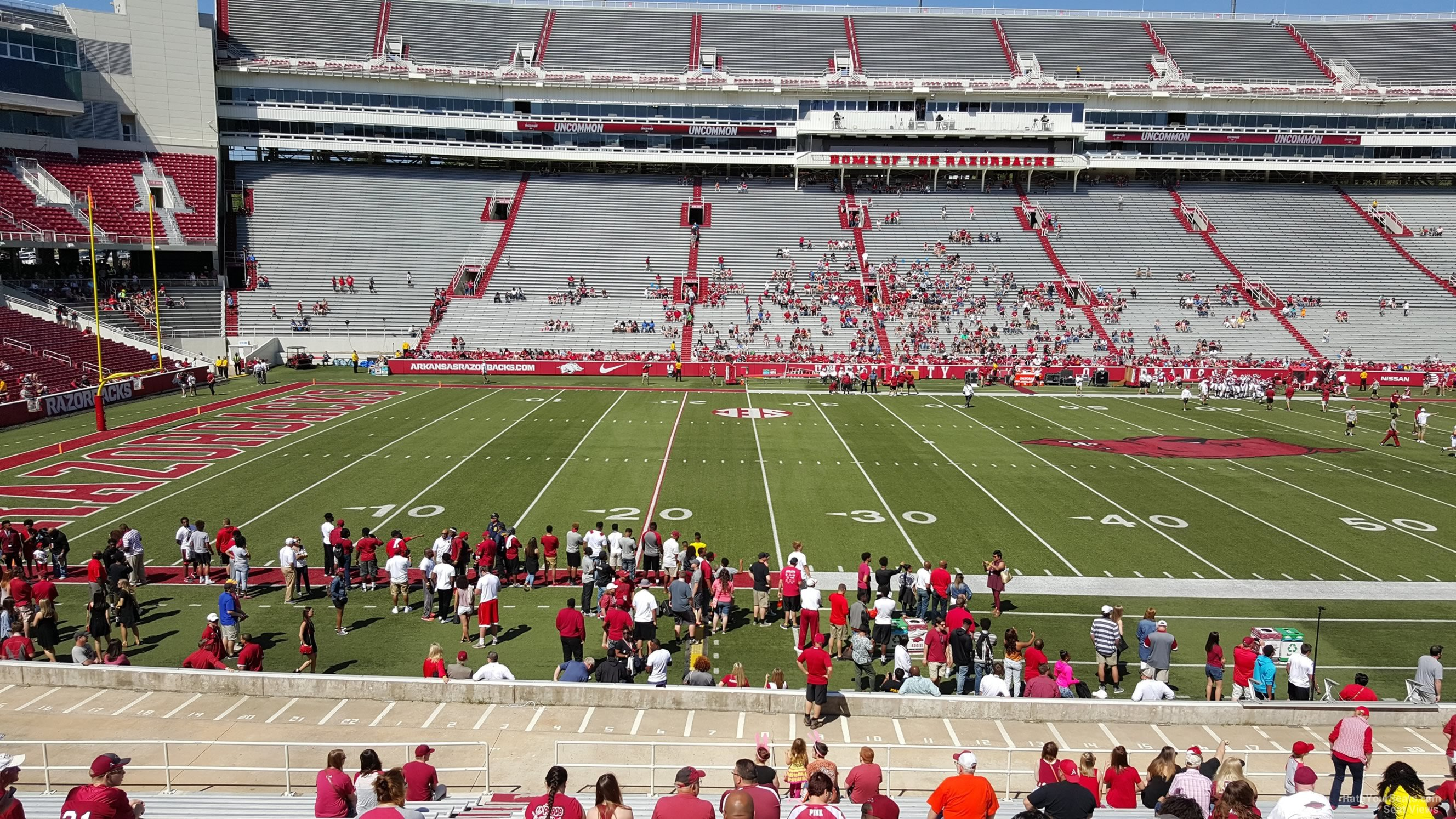 Seat View for Razorback Stadium Section 124, Row 20