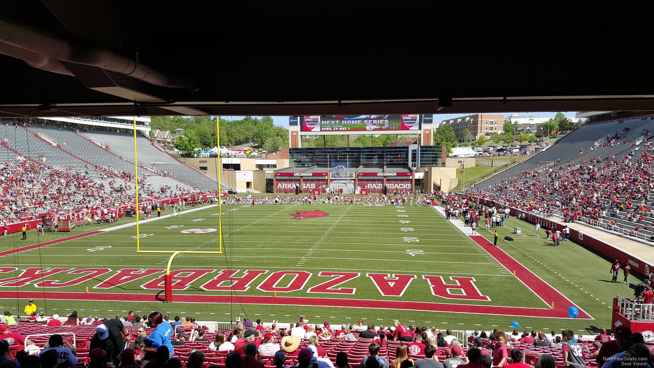 Seat View for Razorback Stadium Section 131, Row 27