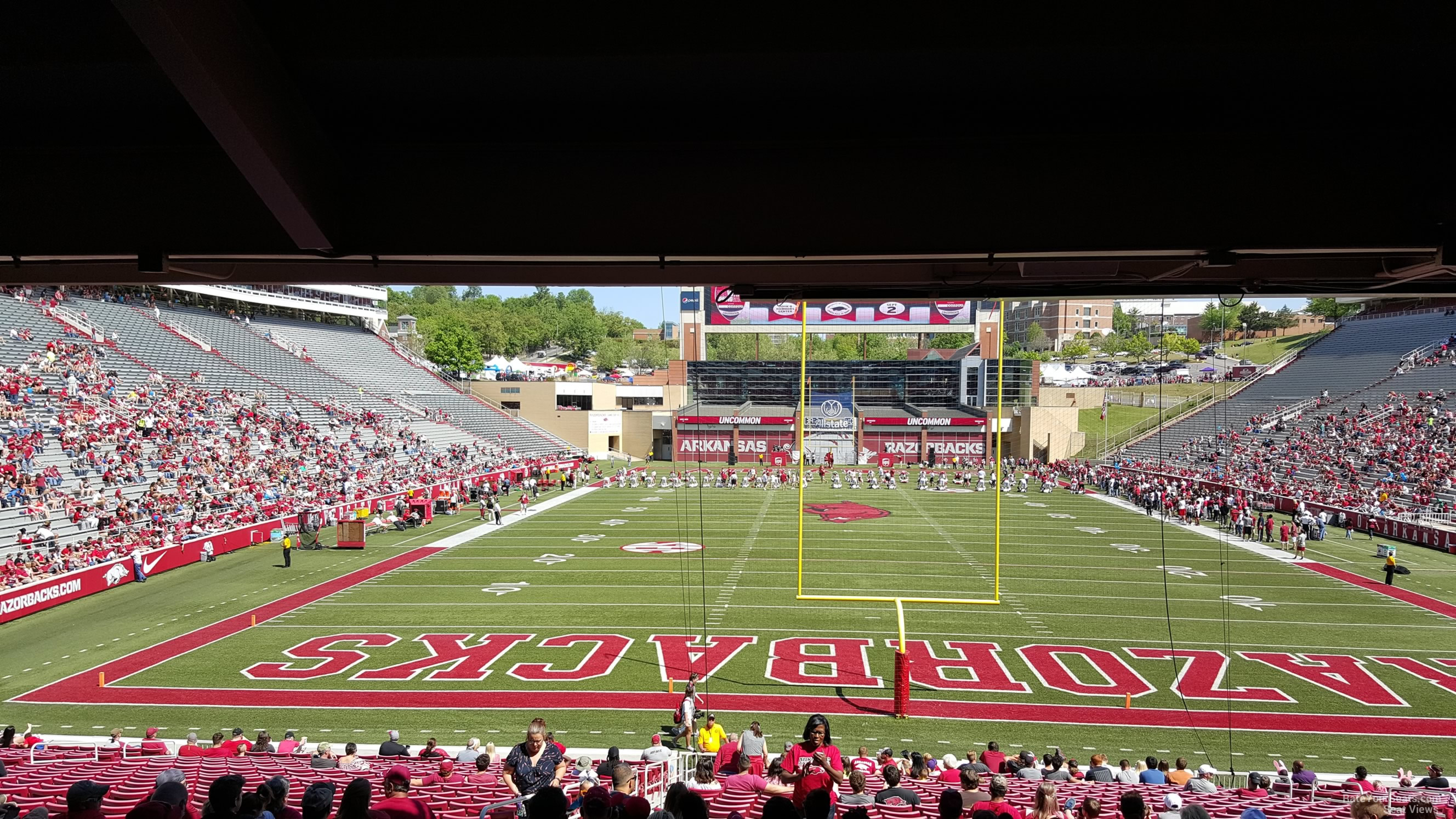 Seat View for Razorback Stadium Section 132, Row 30