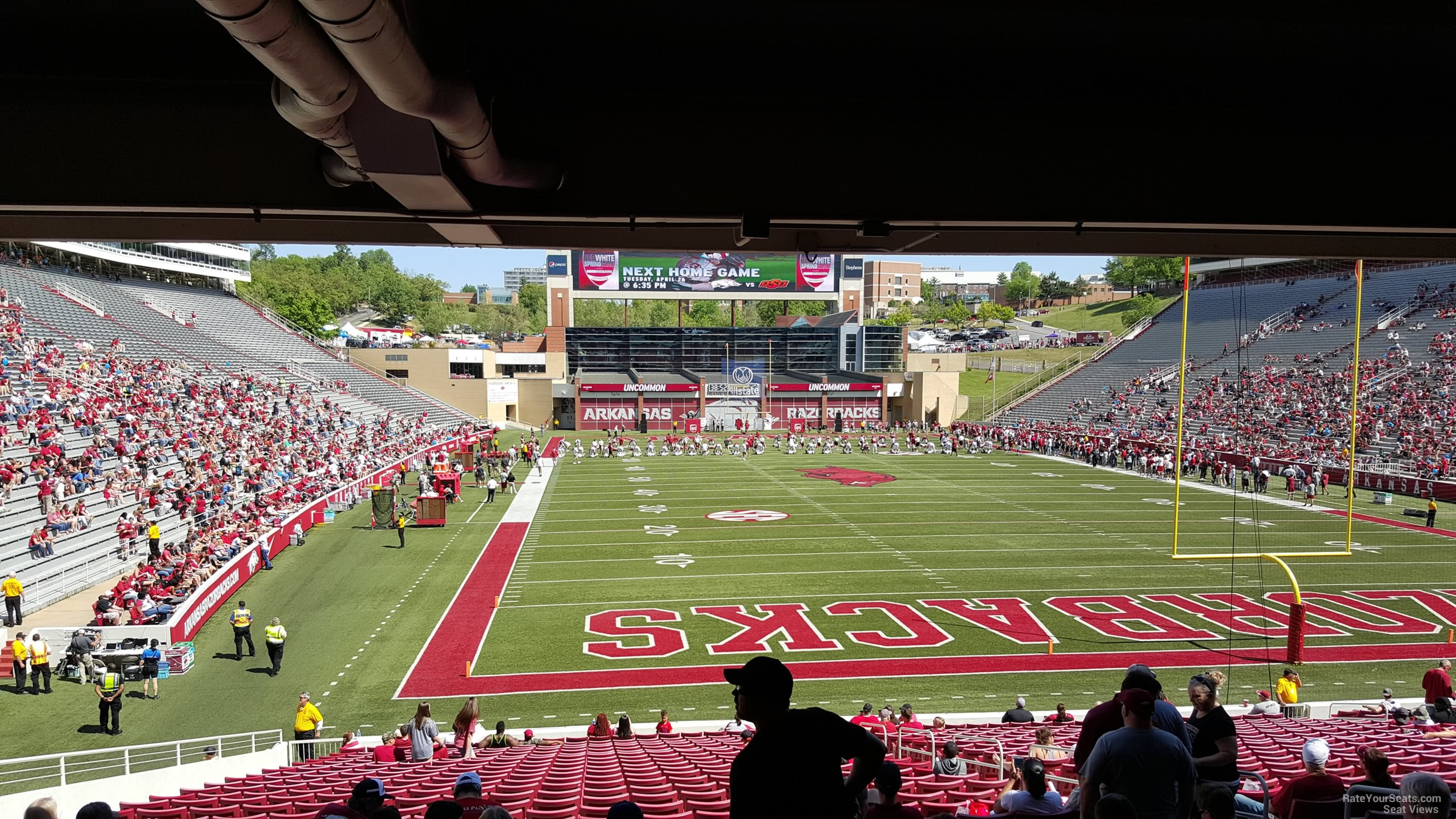 Seat View for Razorback Stadium Section 134, Row 30