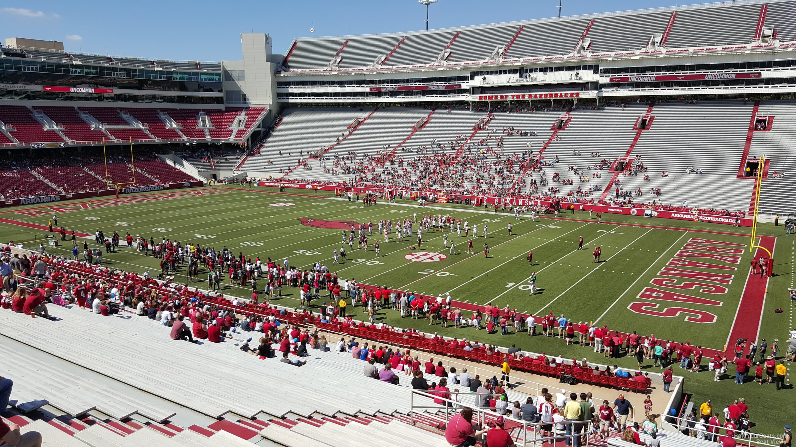 Seat View for Razorback Stadium Section 215