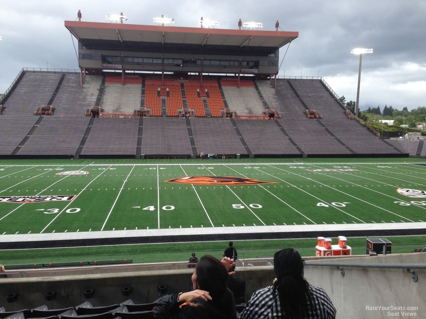 Seat View for Reser Stadium Section 117, Row 21, Seat 5
