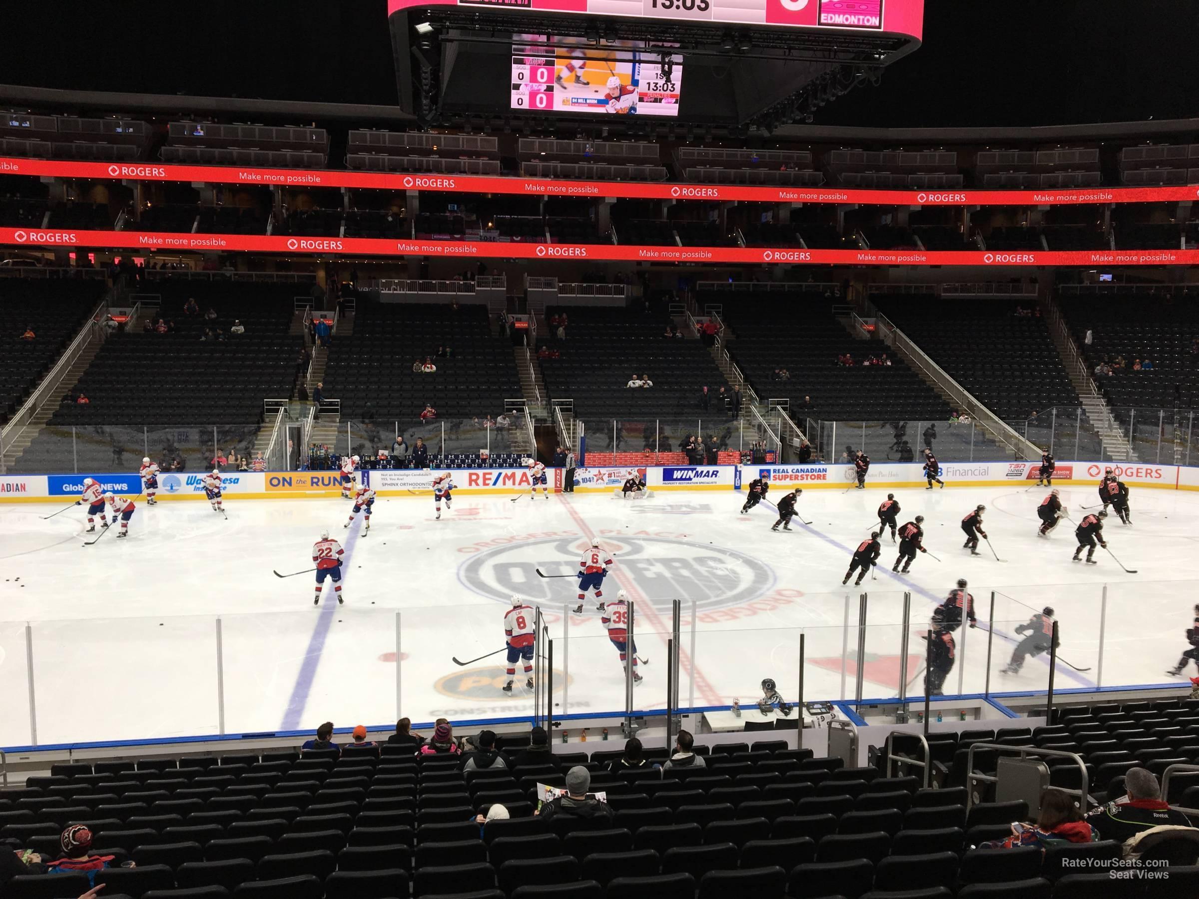Rogers Place Section 120 - Edmonton Oilers - RateYourSeats.com