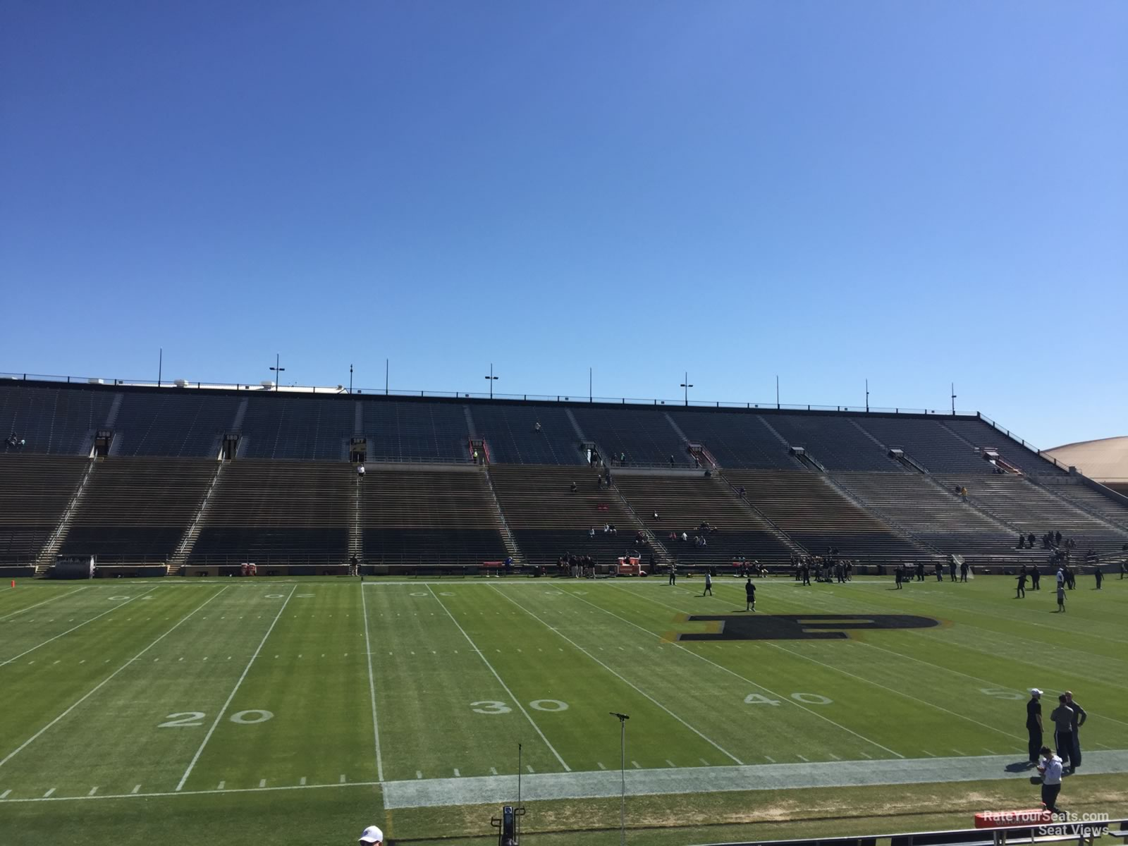 Seat View for Ross-Ade Stadium Section 123, Row 24