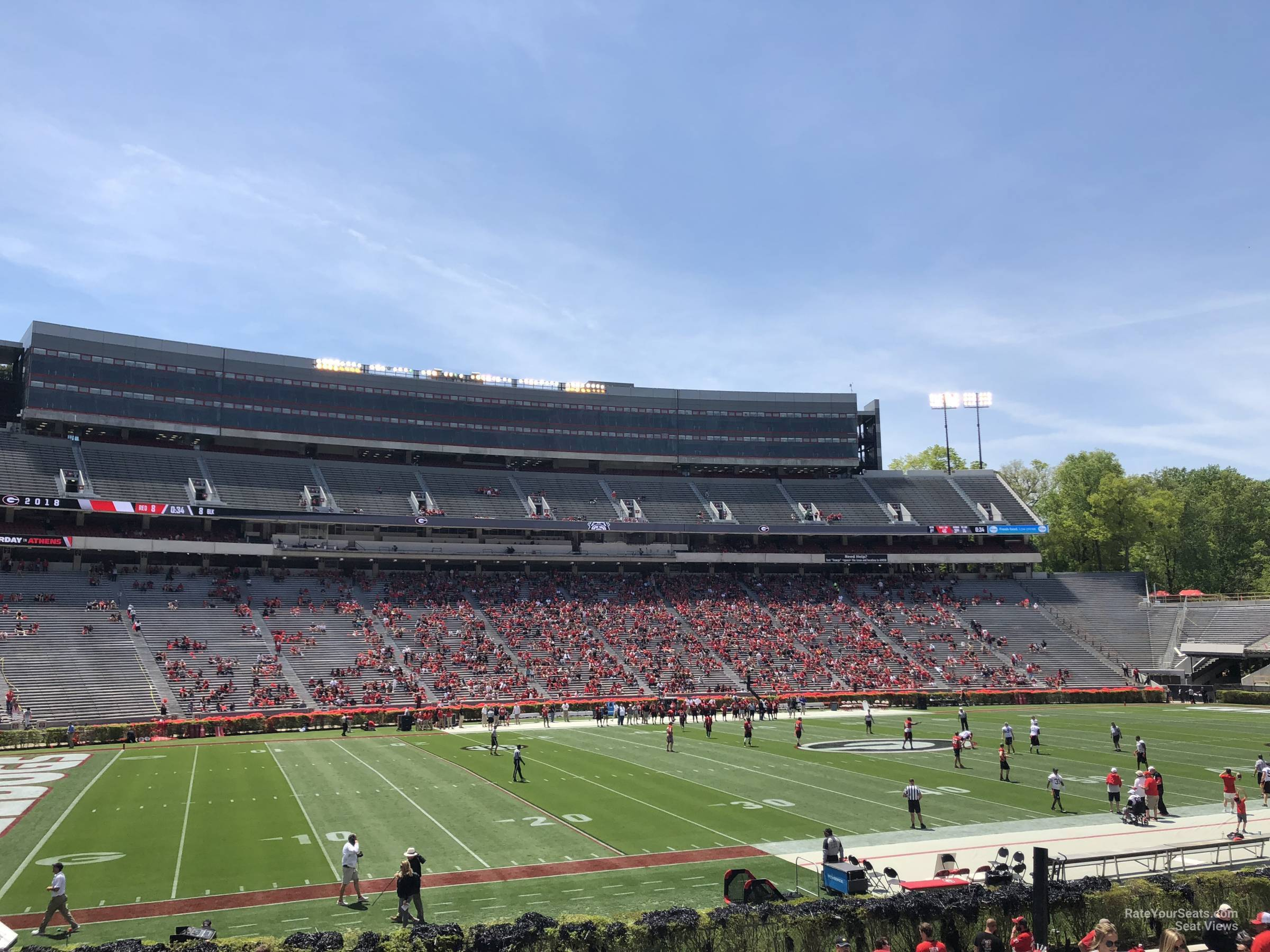 Seat View for Sanford Stadium Section 110, Row 25