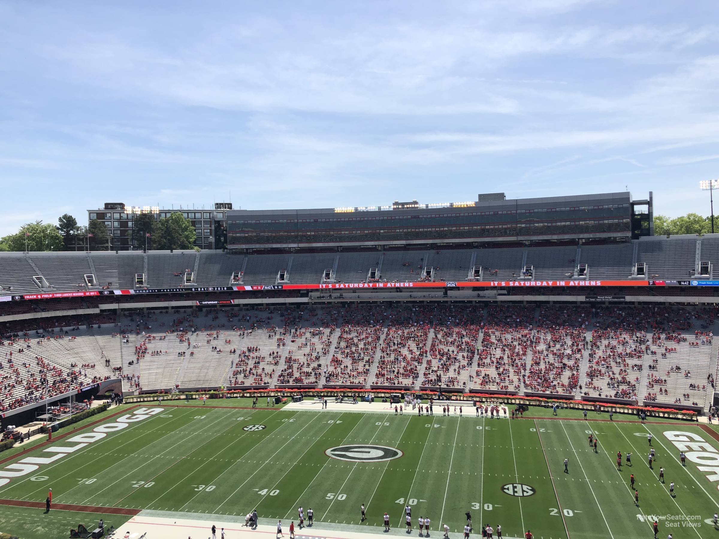 Seat View for Sanford Stadium Section 305, Row 15