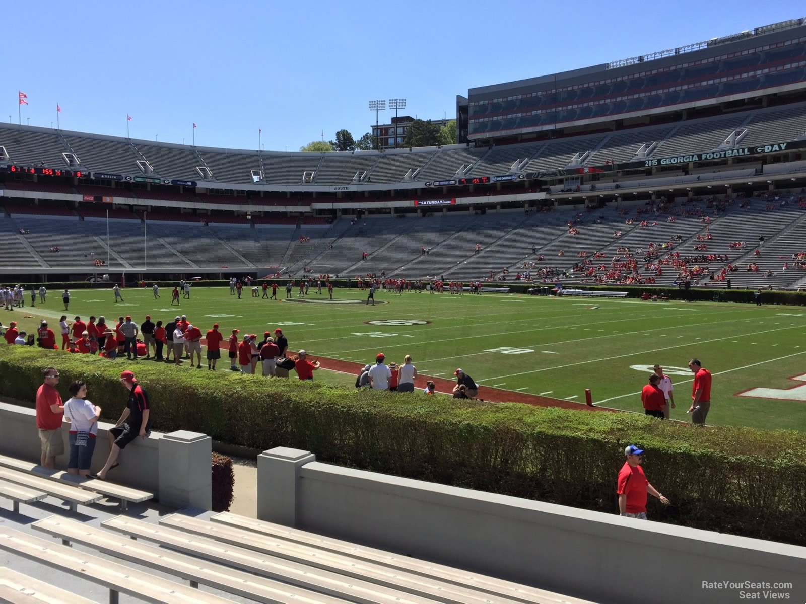 Seat View for Sanford Stadium Section 102, Row 10