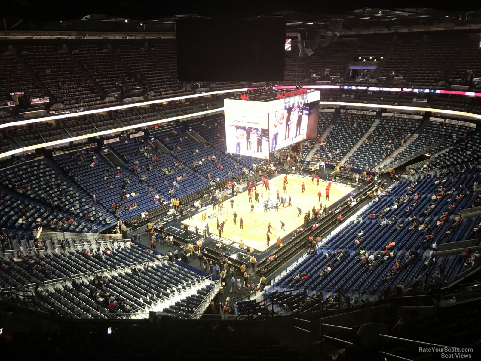 smoothie king center section orleans pelicans rateyourseatscom
