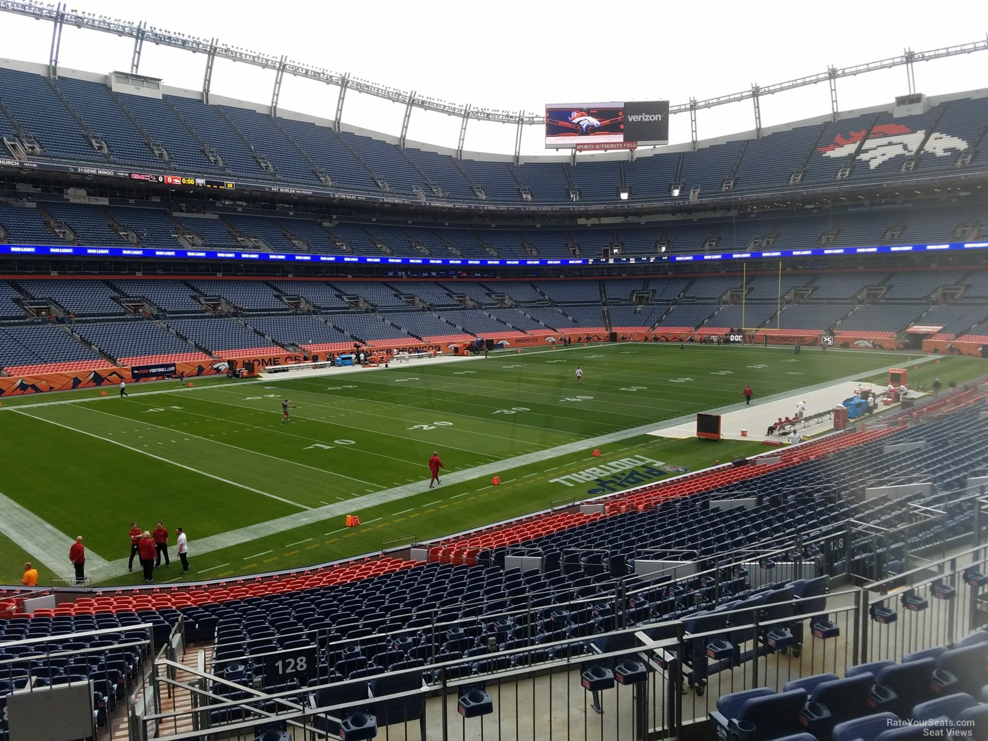 Broncos Stadium Section 128 Rateyourseatscom
