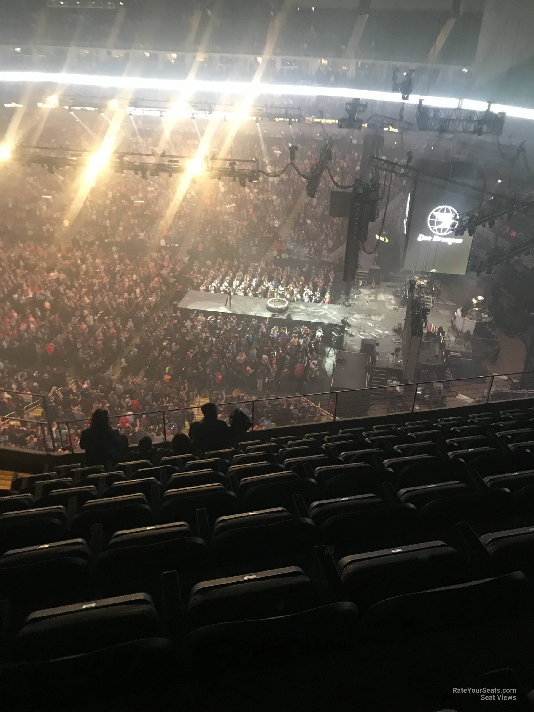 Concert Seat View for Sprint Center Section 222, Row 9