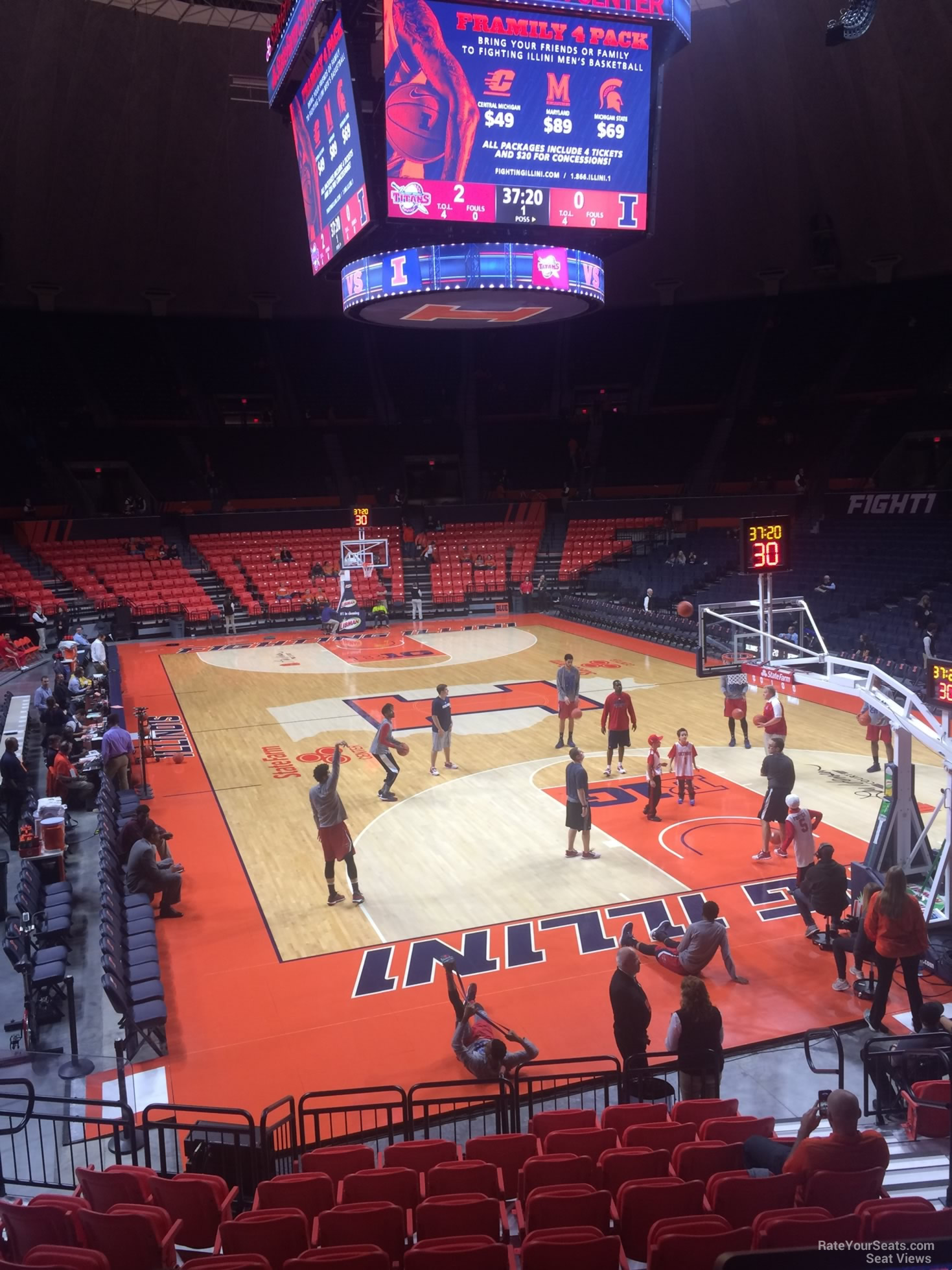 Seat View for State Farm Center Section 107, Row 10