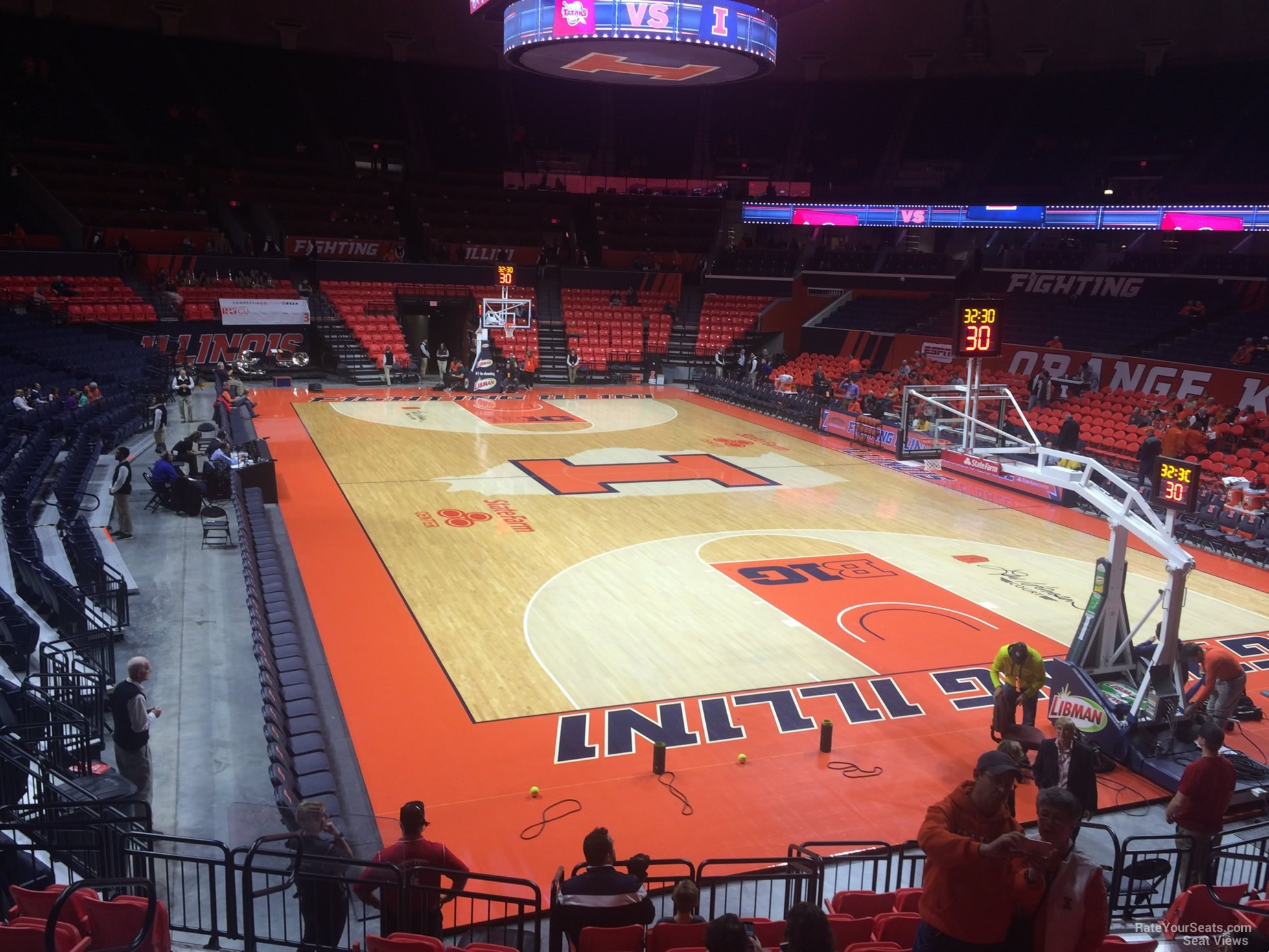 Seat View for State Farm Center Section 117, Row 10