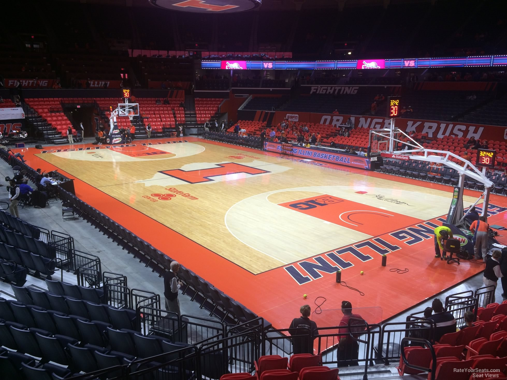 Seat View for State Farm Center Section 118, Row 10