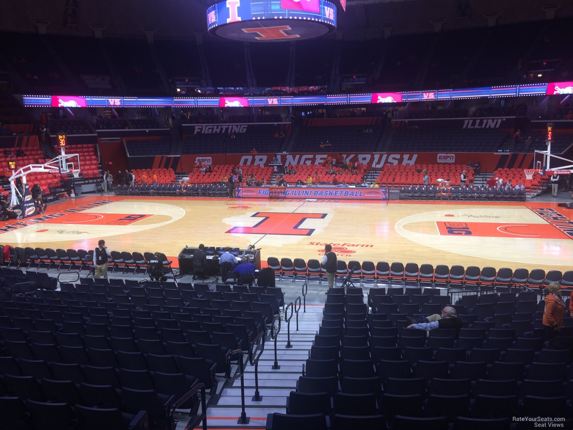 Seat View for State Farm Center Section 120, Row 16