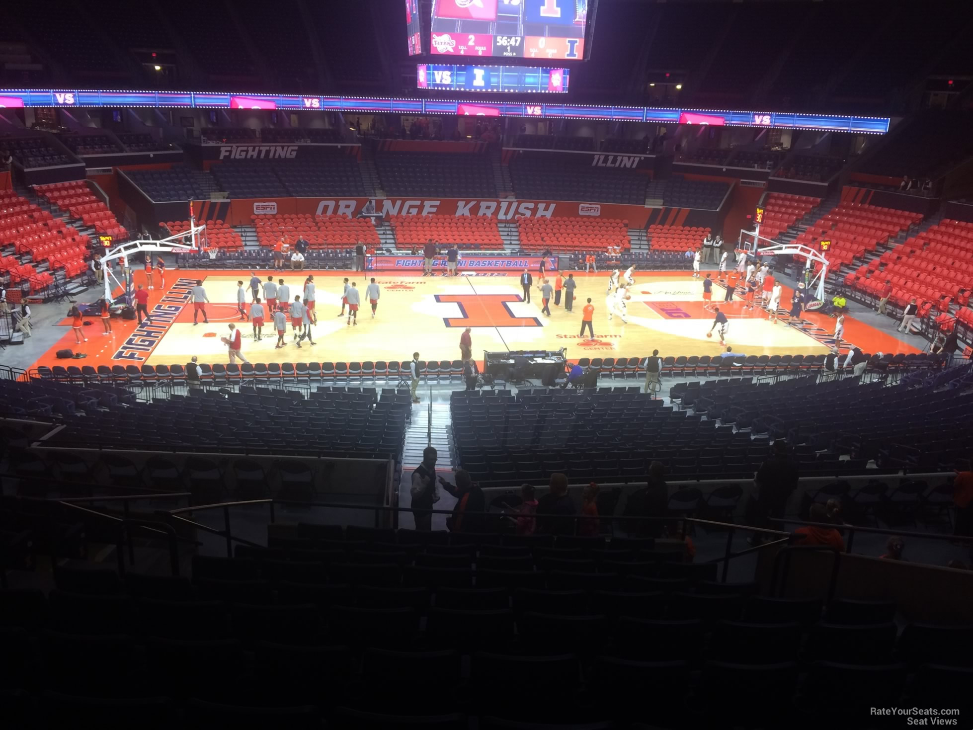 Seat View for State Farm Center Section 121, Row 11