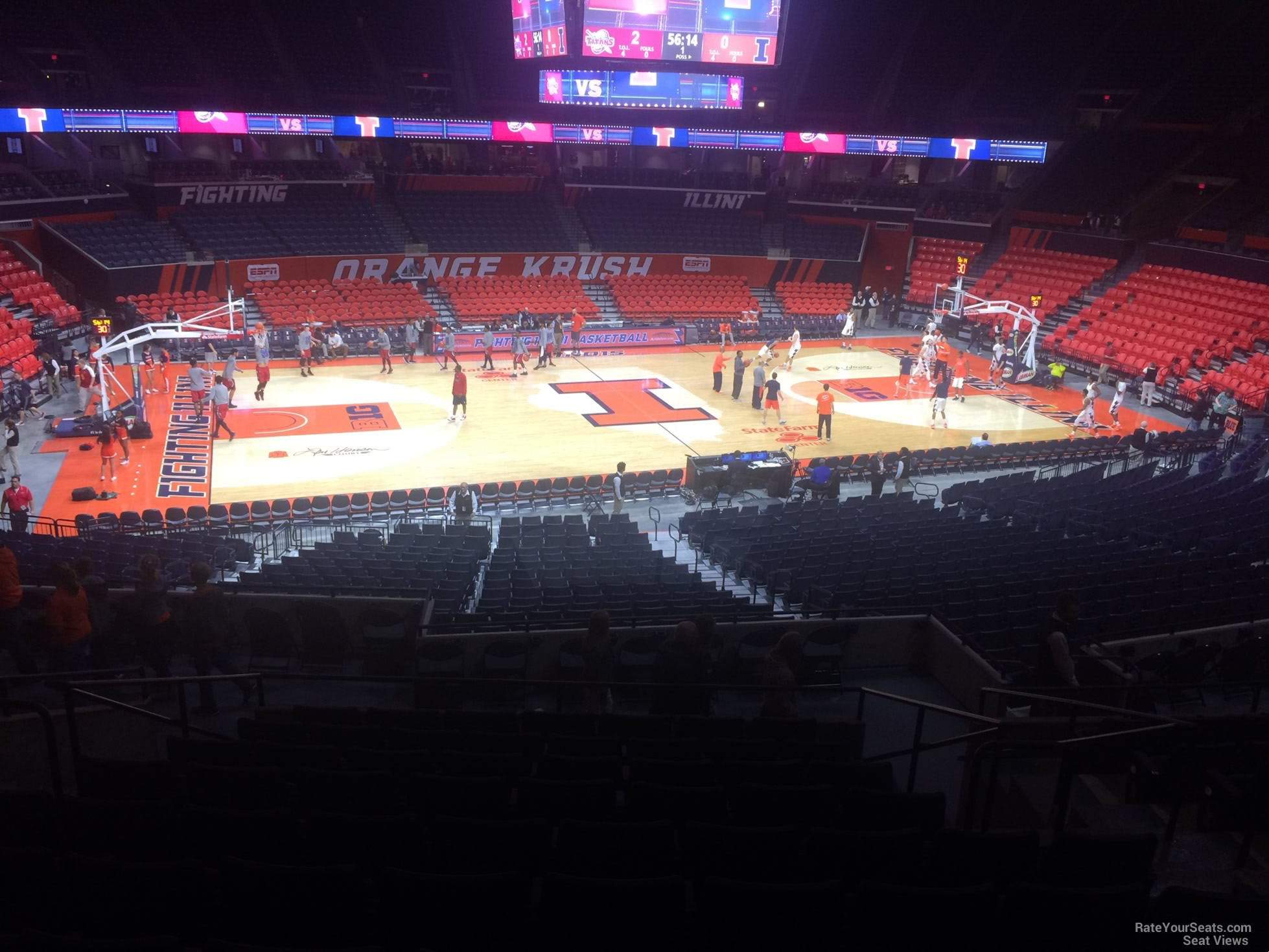 Seat View for State Farm Center Section 122, Row 11