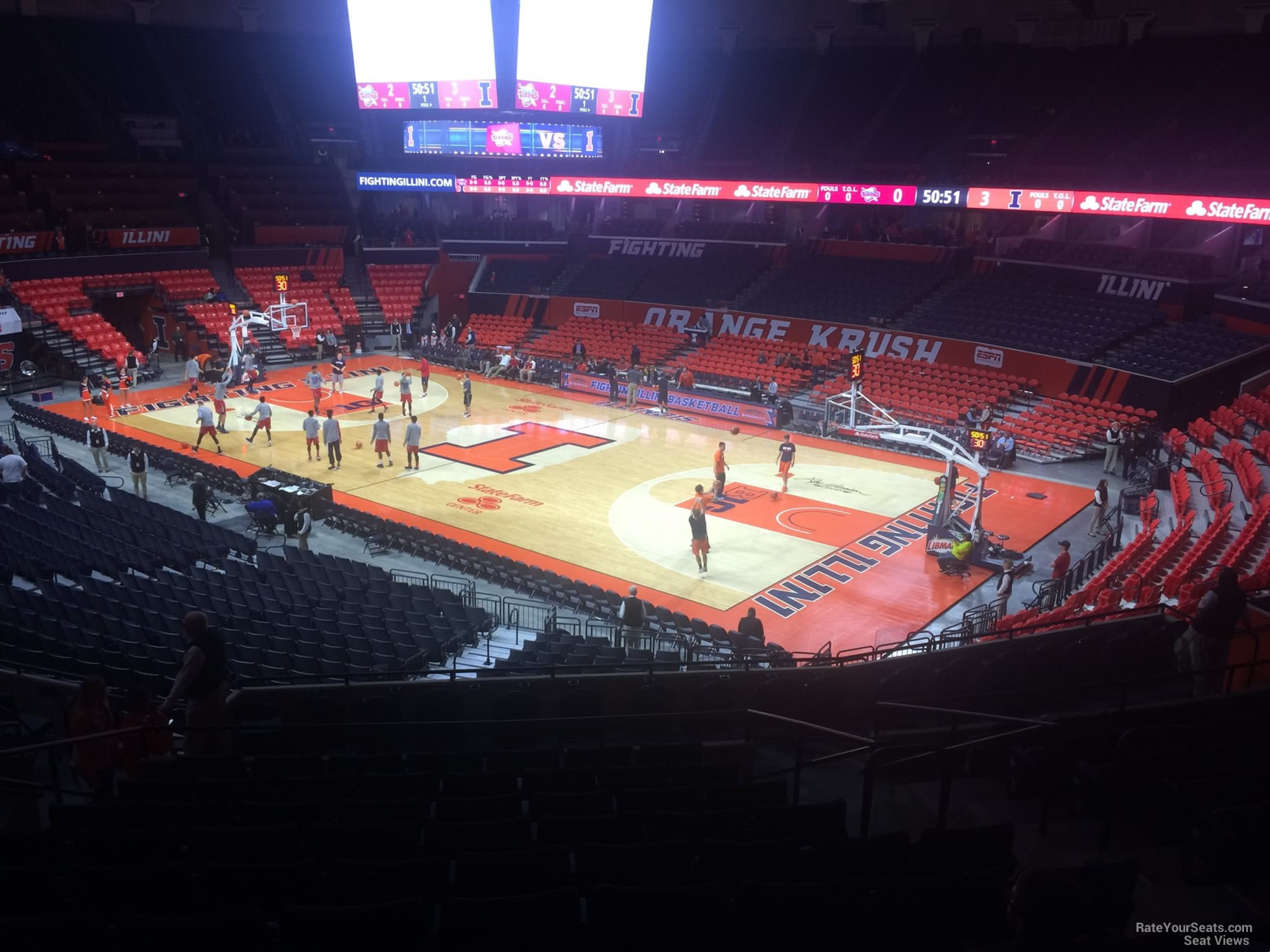 Seat View for State Farm Center Section 140, Row 11
