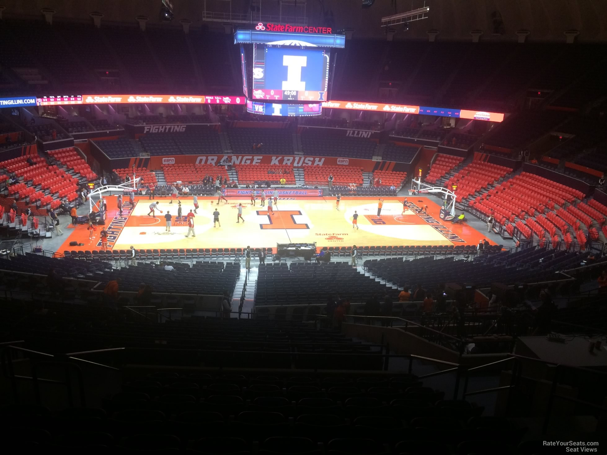 Seat View for State Farm Center Section 202, Row 10