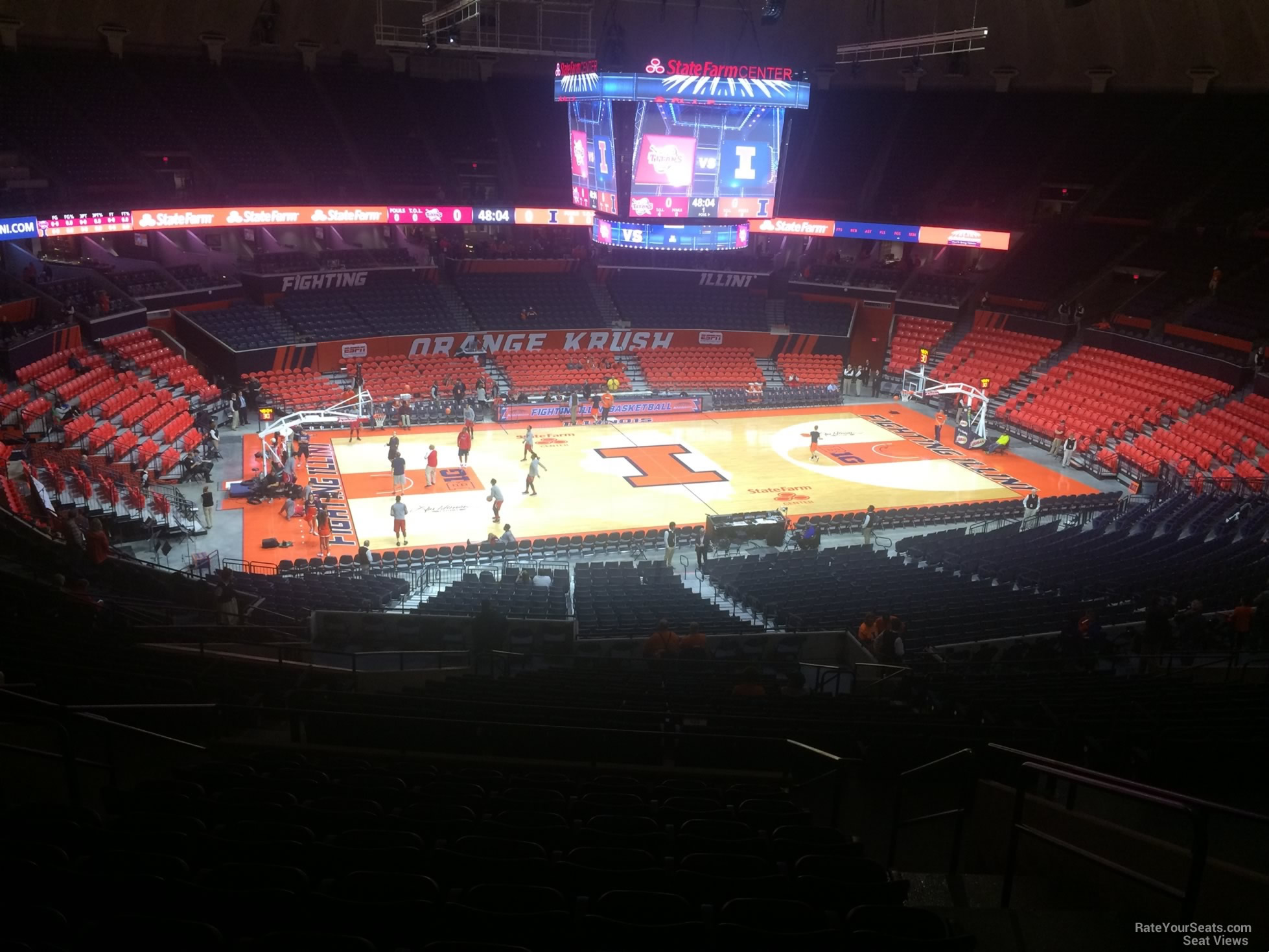 Seat View for State Farm Center Section 204, Row 10