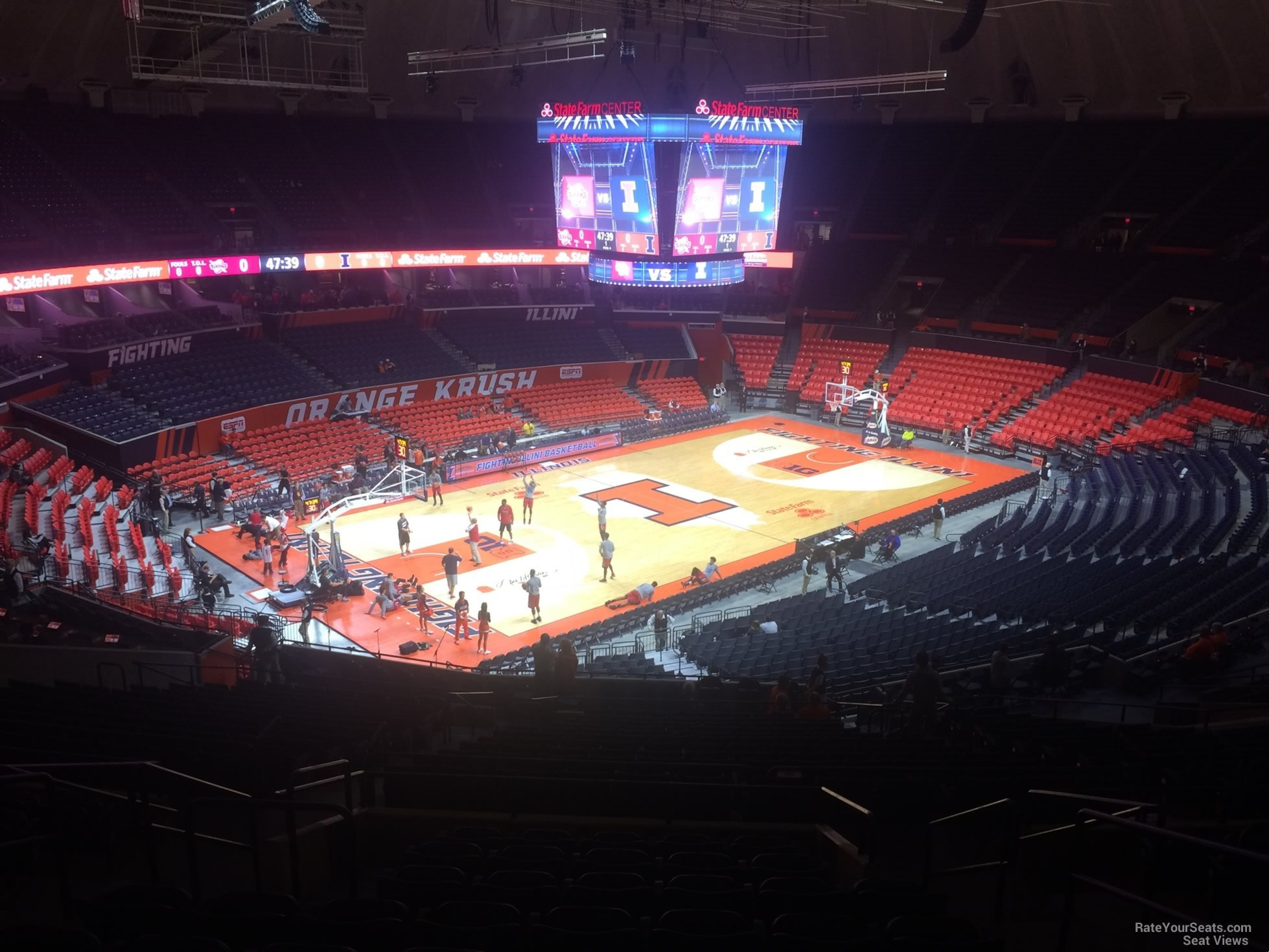 Seat View for State Farm Center Section 207, Row 10