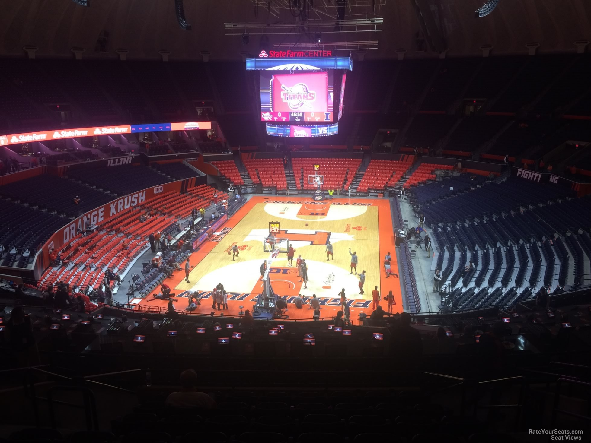 Seat View for State Farm Center Section 212, Row 10