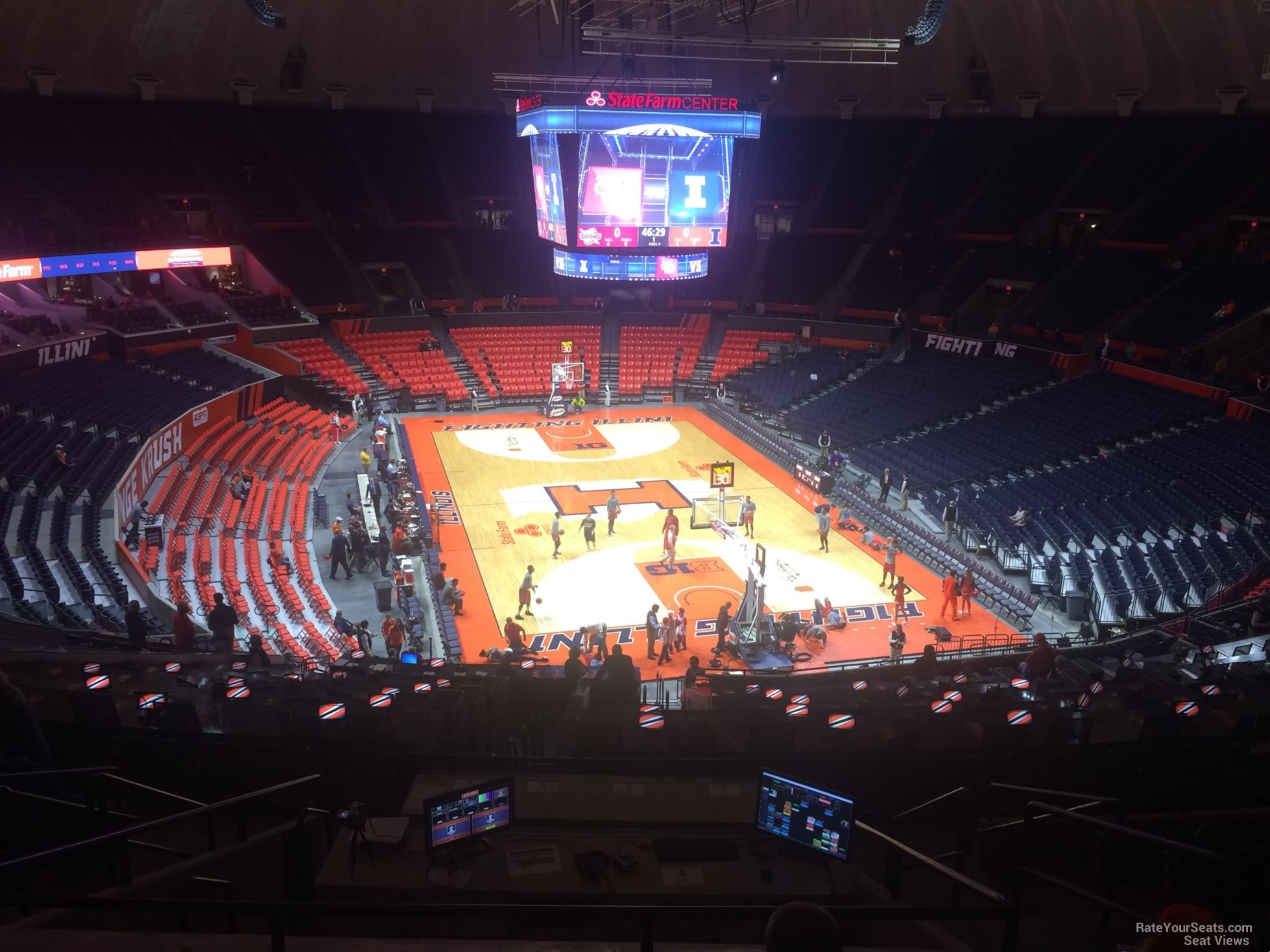 Seat View for State Farm Center Section 215, Row 10