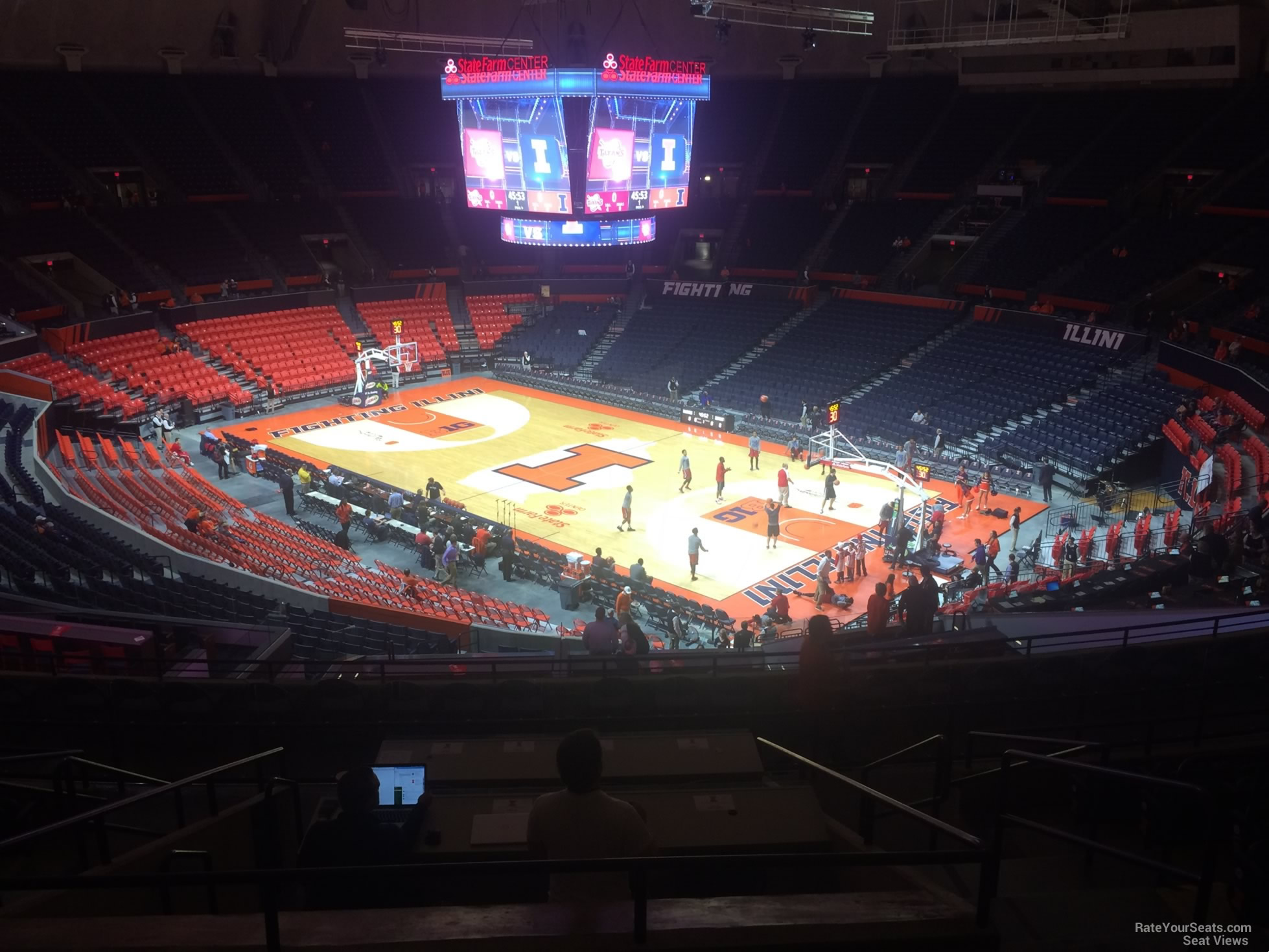 Seat View for State Farm Center Section 219, Row 10