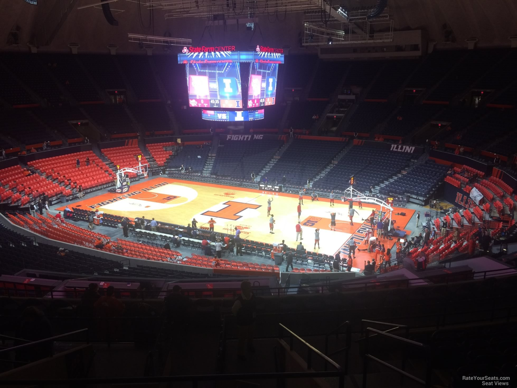 Seat View for State Farm Center Section 221, Row 10